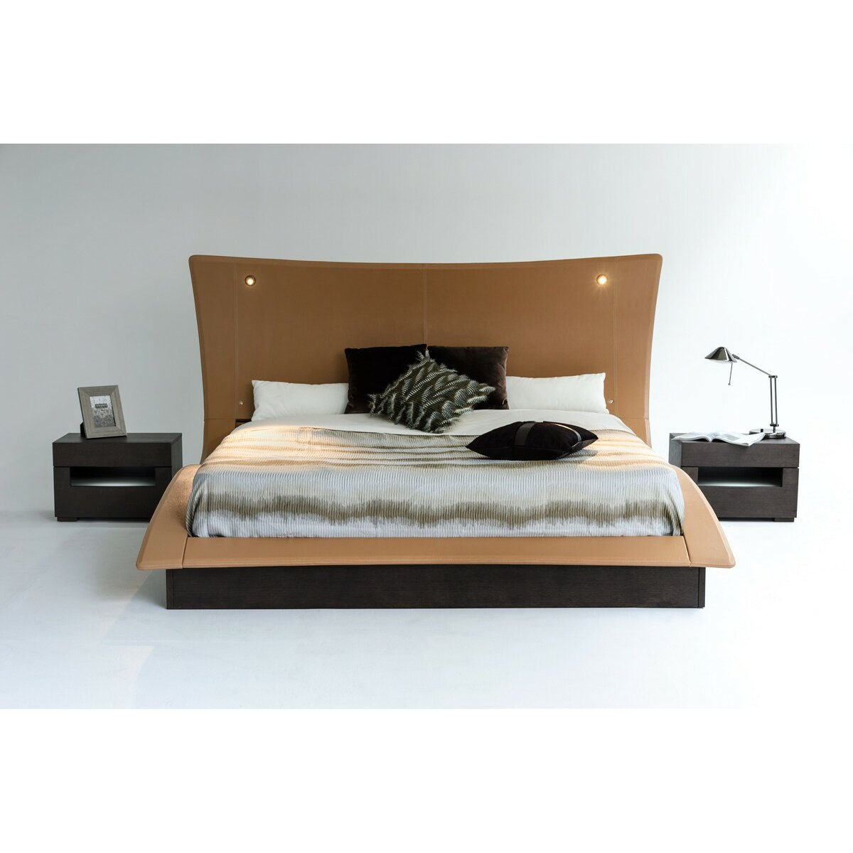 King Upholstered Platform Bed Wayfair