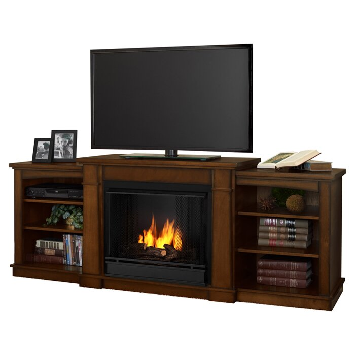 Hawthorne Tv Stand With Gel Fuel Fireplace Wayfair