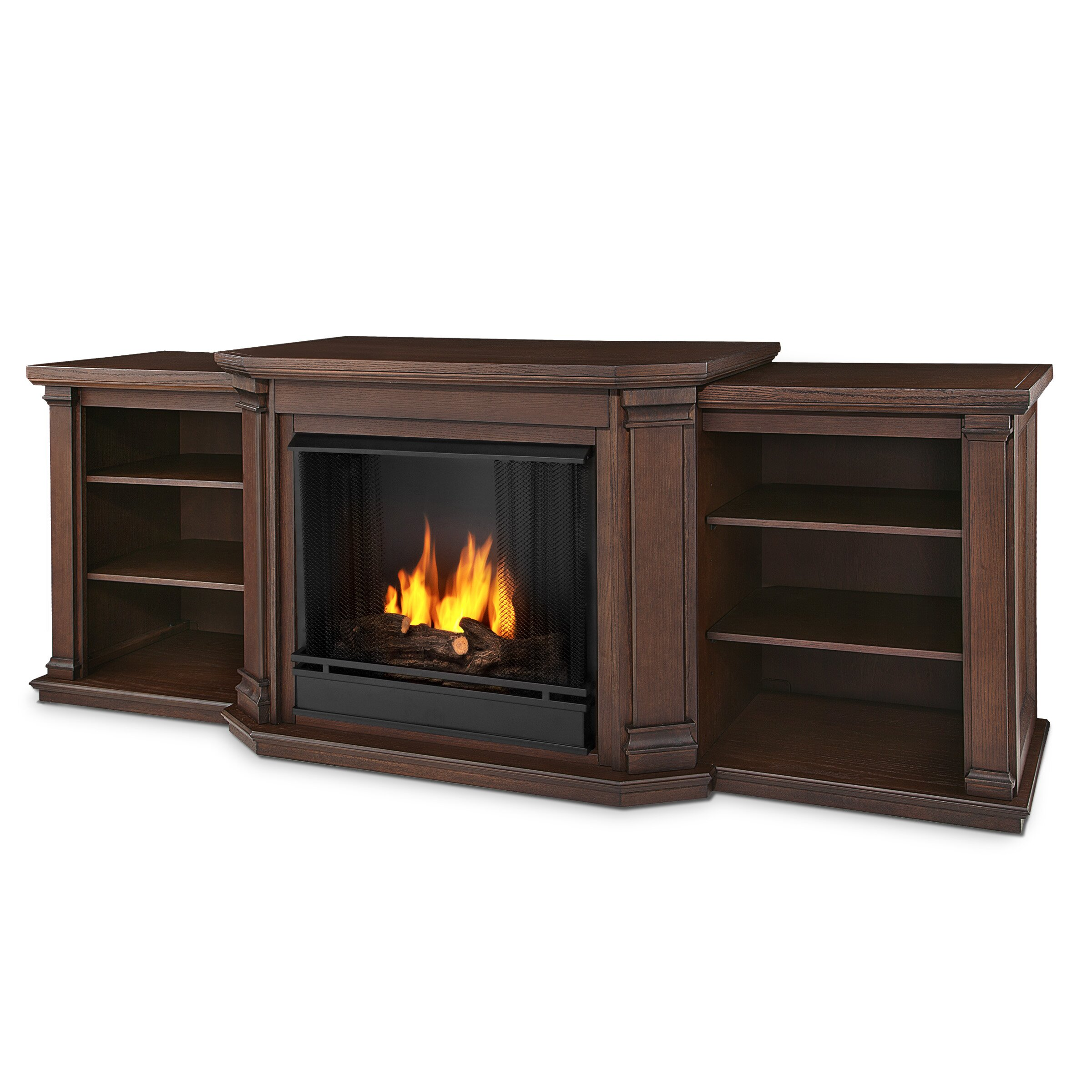 Valmont Tv Stand With Gel Fuel Fireplace Wayfair