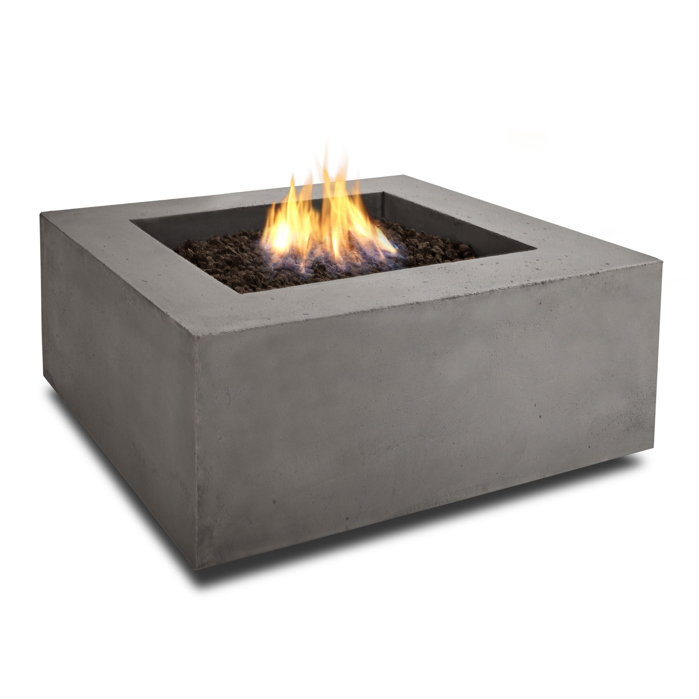 Baltic square natural gas fire pit table wayfair for Square fire ring