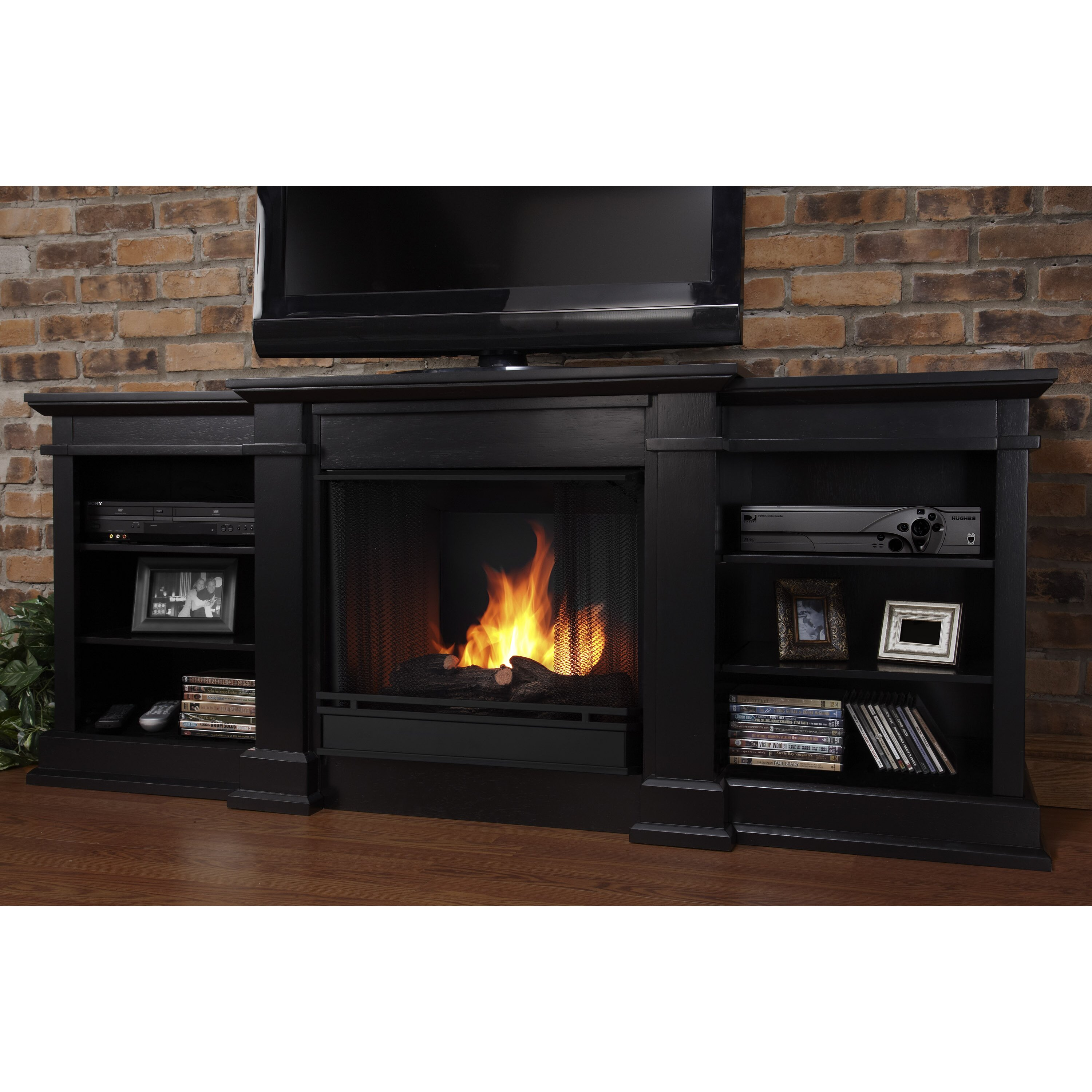 fresno tv stand with gel fuel fireplace by real flame