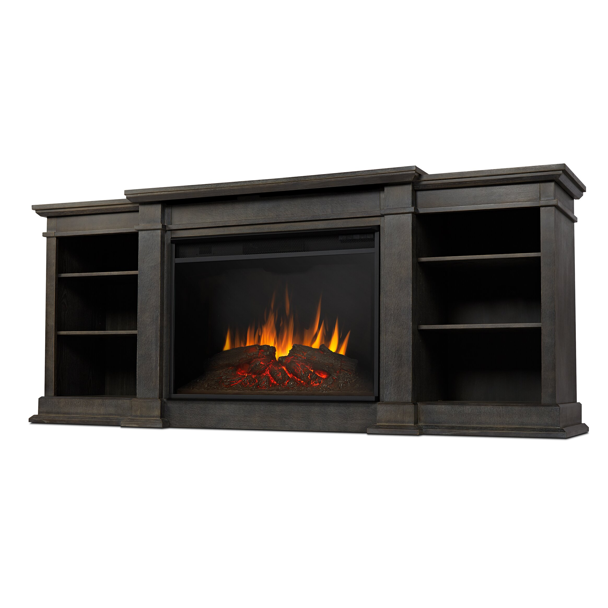 Eliot Grand Entertainment Unit With Electric Fireplace Wayfair