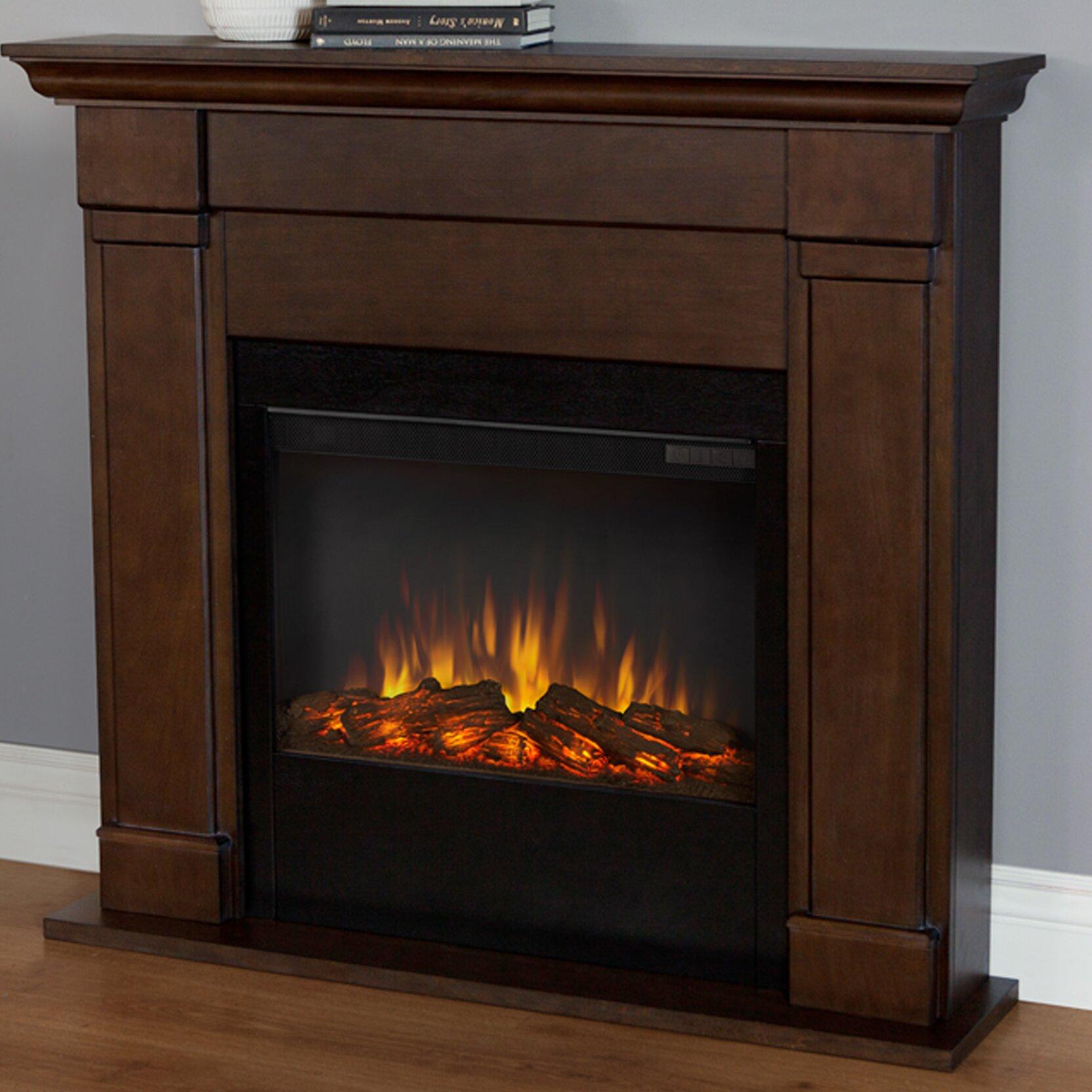 Lowry Slim Wall Mount Electric Fireplace Wayfair