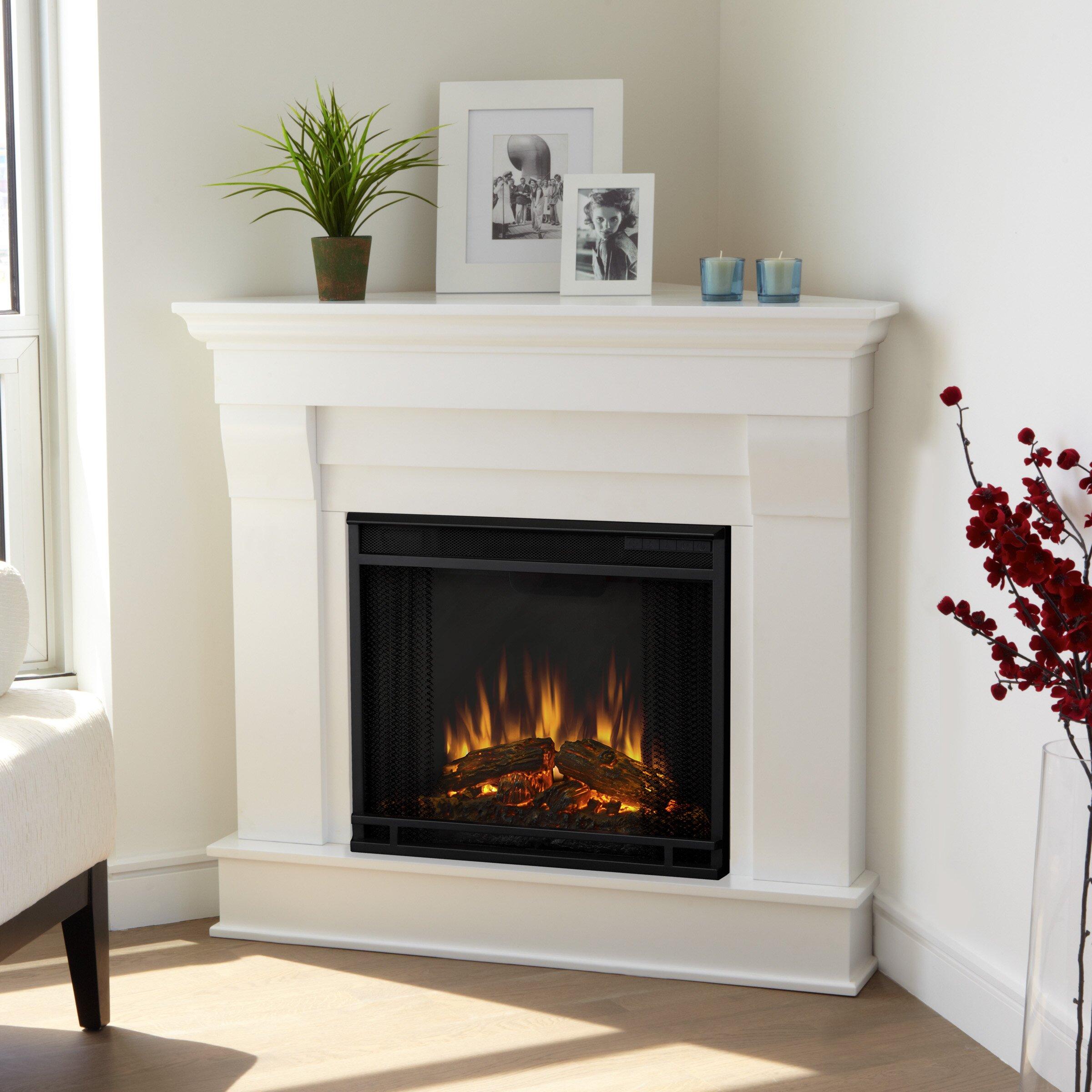Chateau Corner Electric Fireplace Wayfair