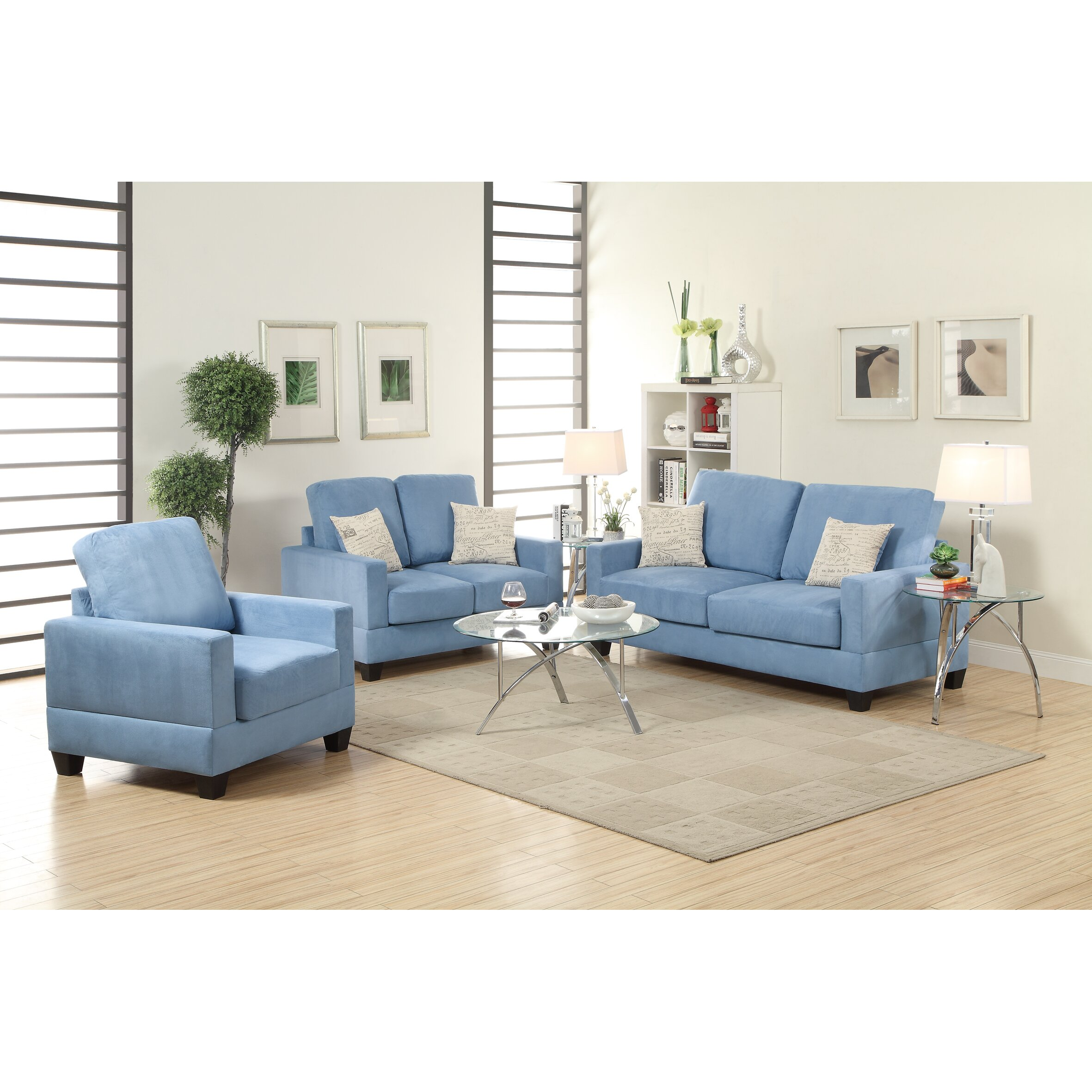 madison 3 piece sofa and loveseat with chair set reviews wayfair