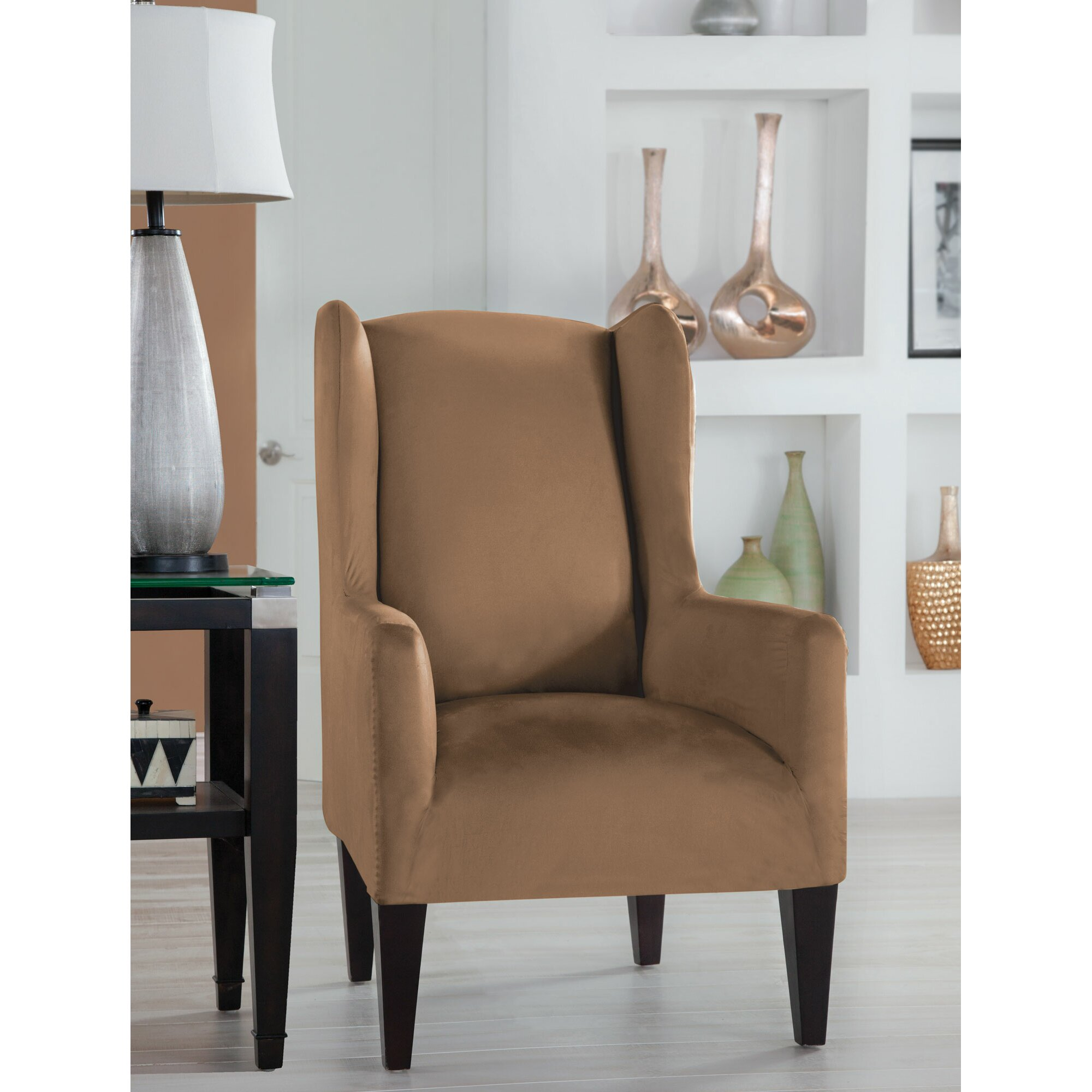 Tailor Fit Wingback Chair Slipcover | Wayfair
