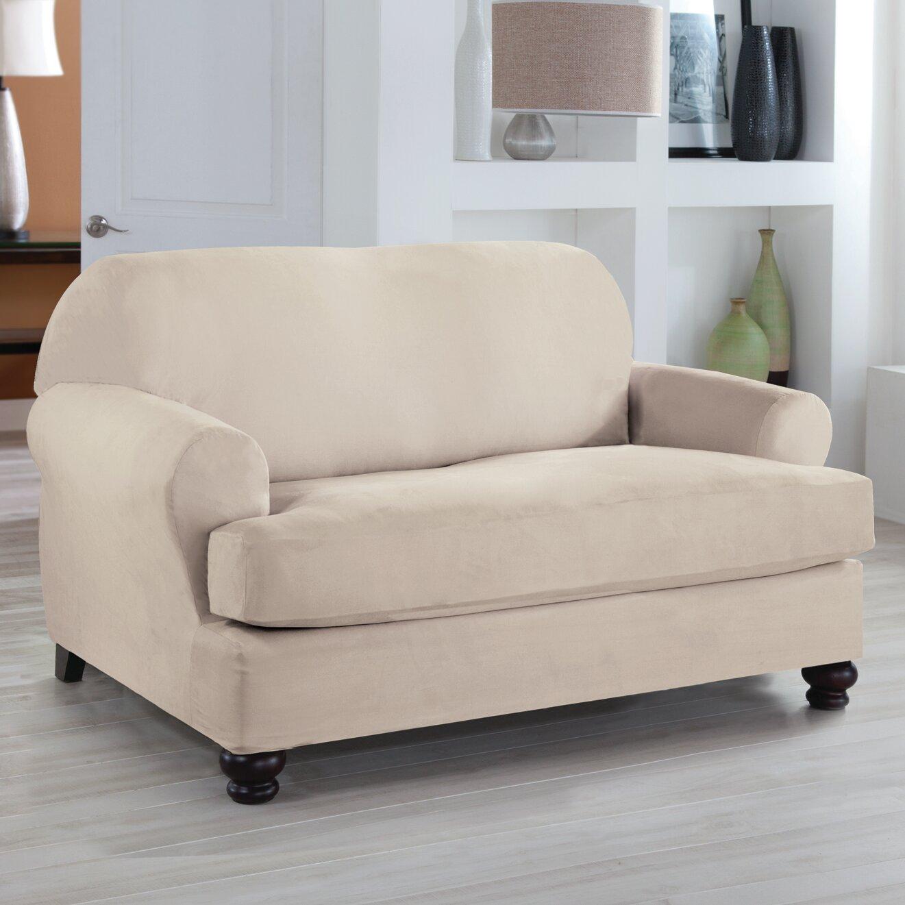 Tailor Fit Loveseat T Cushion Slipcover Wayfair