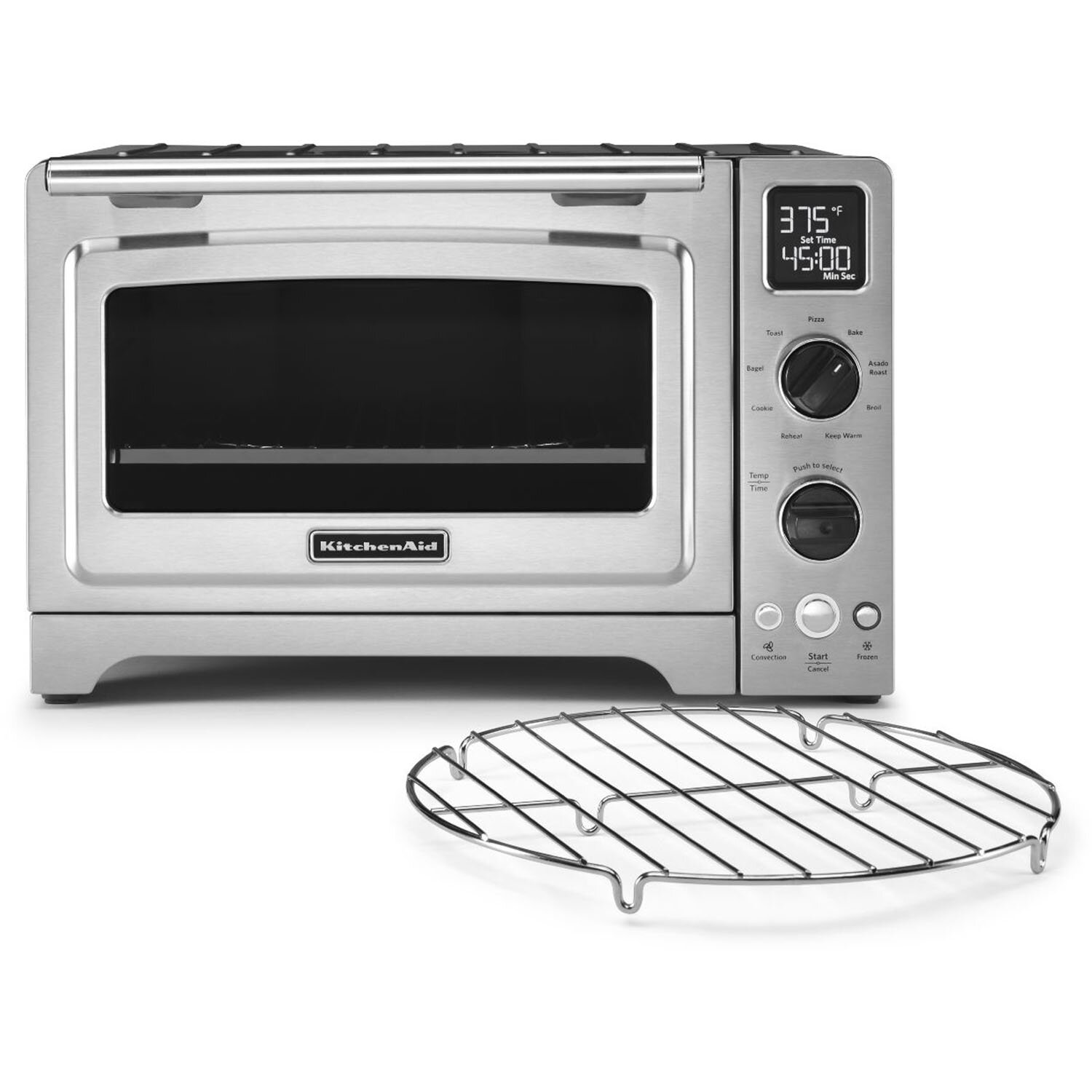 Countertop Convection Oven Kitchenaid : KitchenAid 1 Cubic Foot Stainless Steel Convection Countertop Oven ...