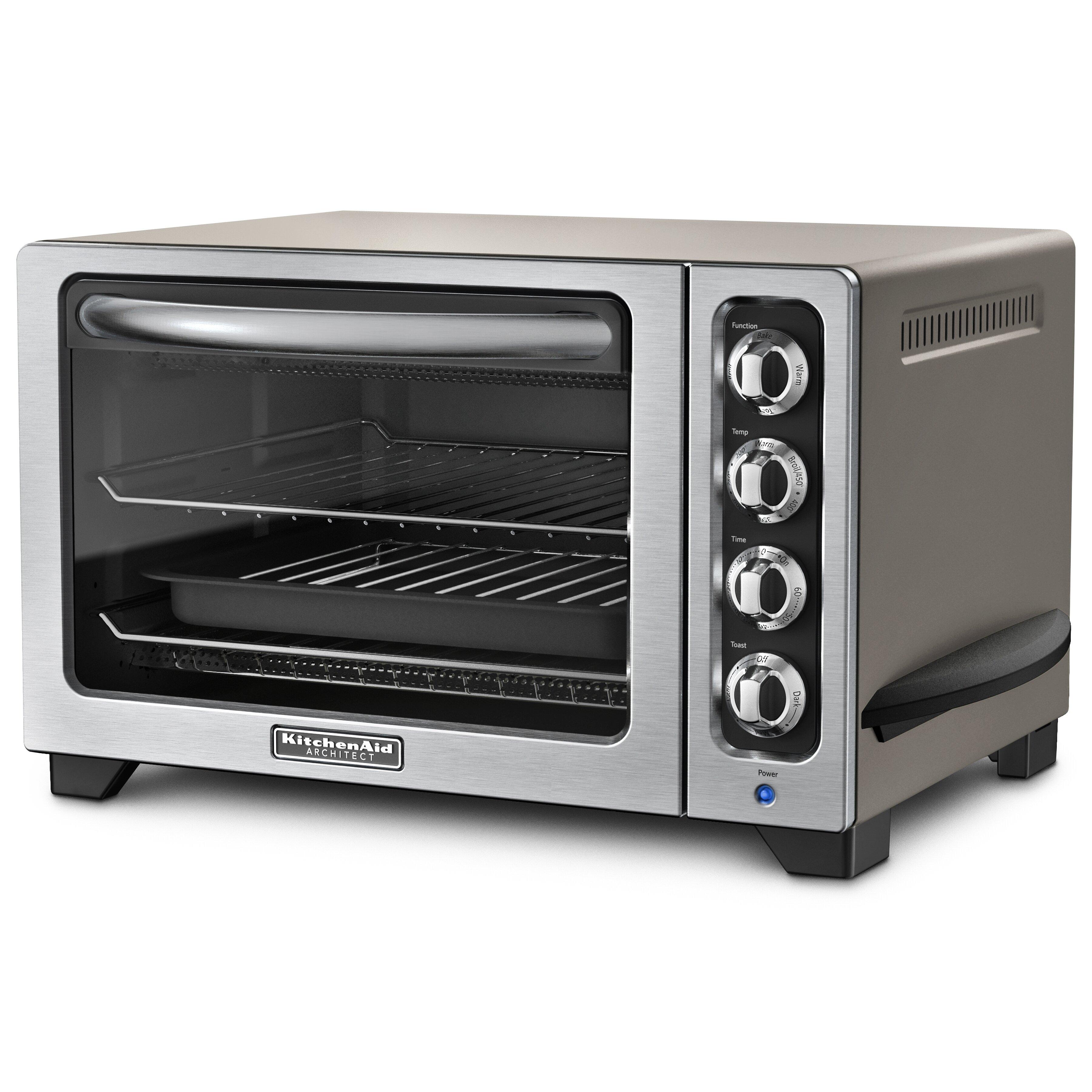 kitchenaid countertop toaster oven reviews wayfair. Black Bedroom Furniture Sets. Home Design Ideas