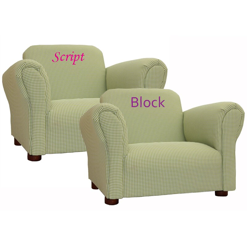 Keet Little Furniture Upholstered Personalized Kid S