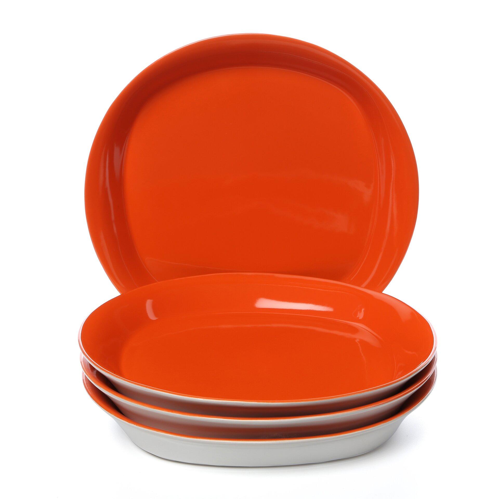 round square 11 dinner plate 4 piece set wayfair. Black Bedroom Furniture Sets. Home Design Ideas