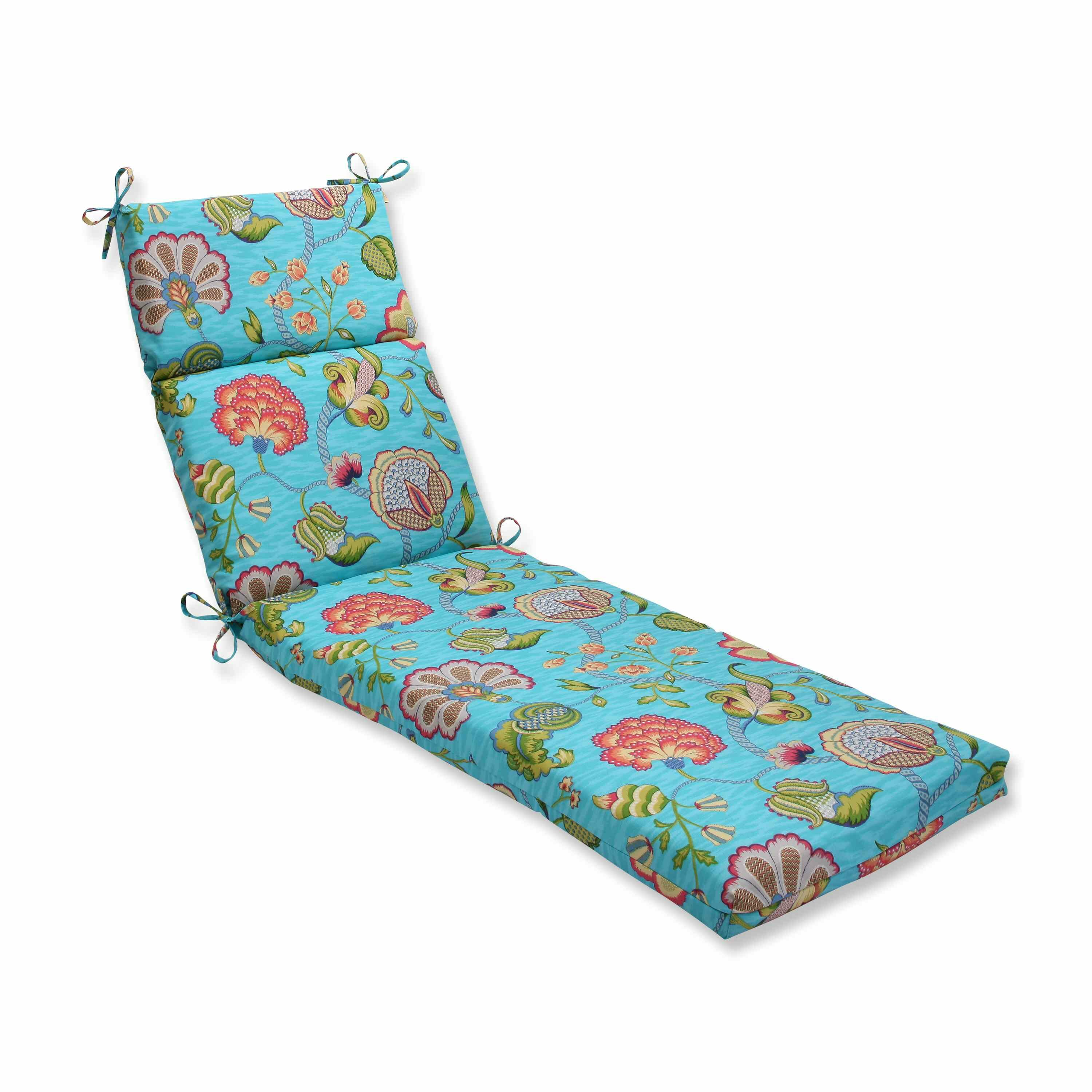 Arabella outdoor chaise lounge cushion wayfair for Blue chaise lounge indoor