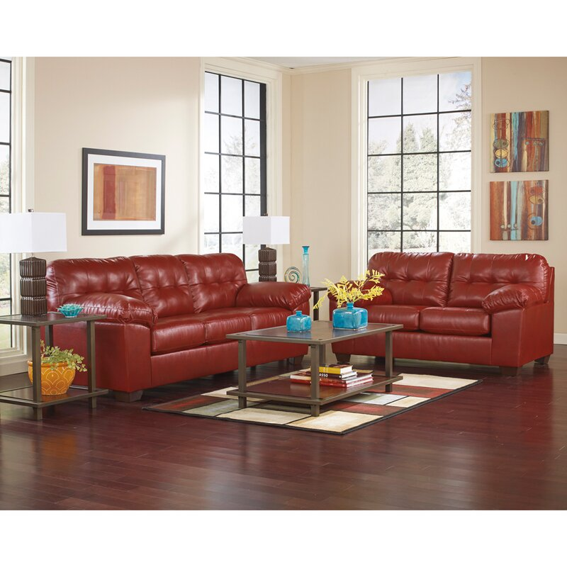 Flash furniture alliston 2 piece signature design by ashley living room set reviews wayfair for Ashley furniture 5 piece living room set