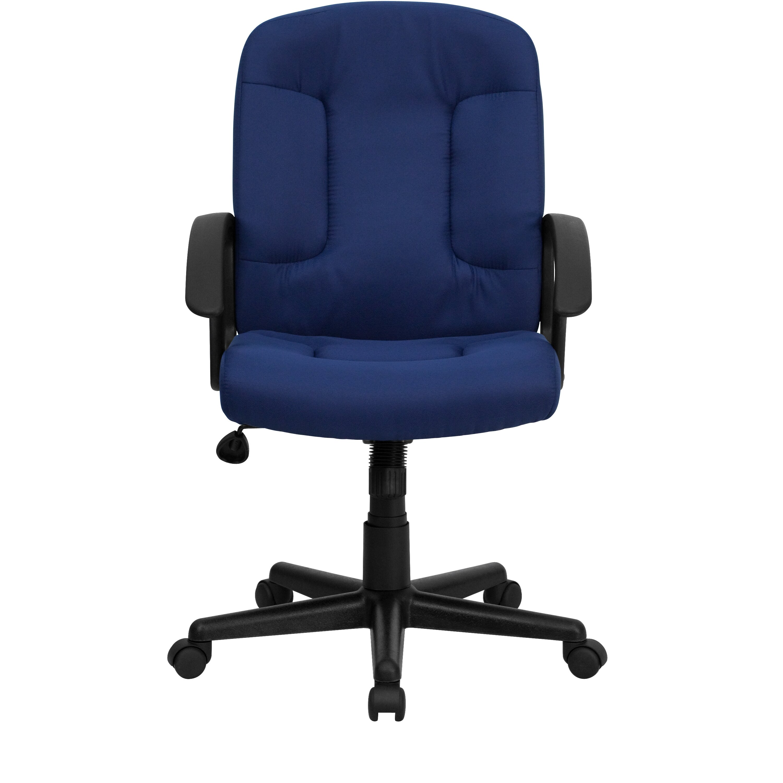 Mid Back Fabric Office Chair With Nylon Arms Wayfair