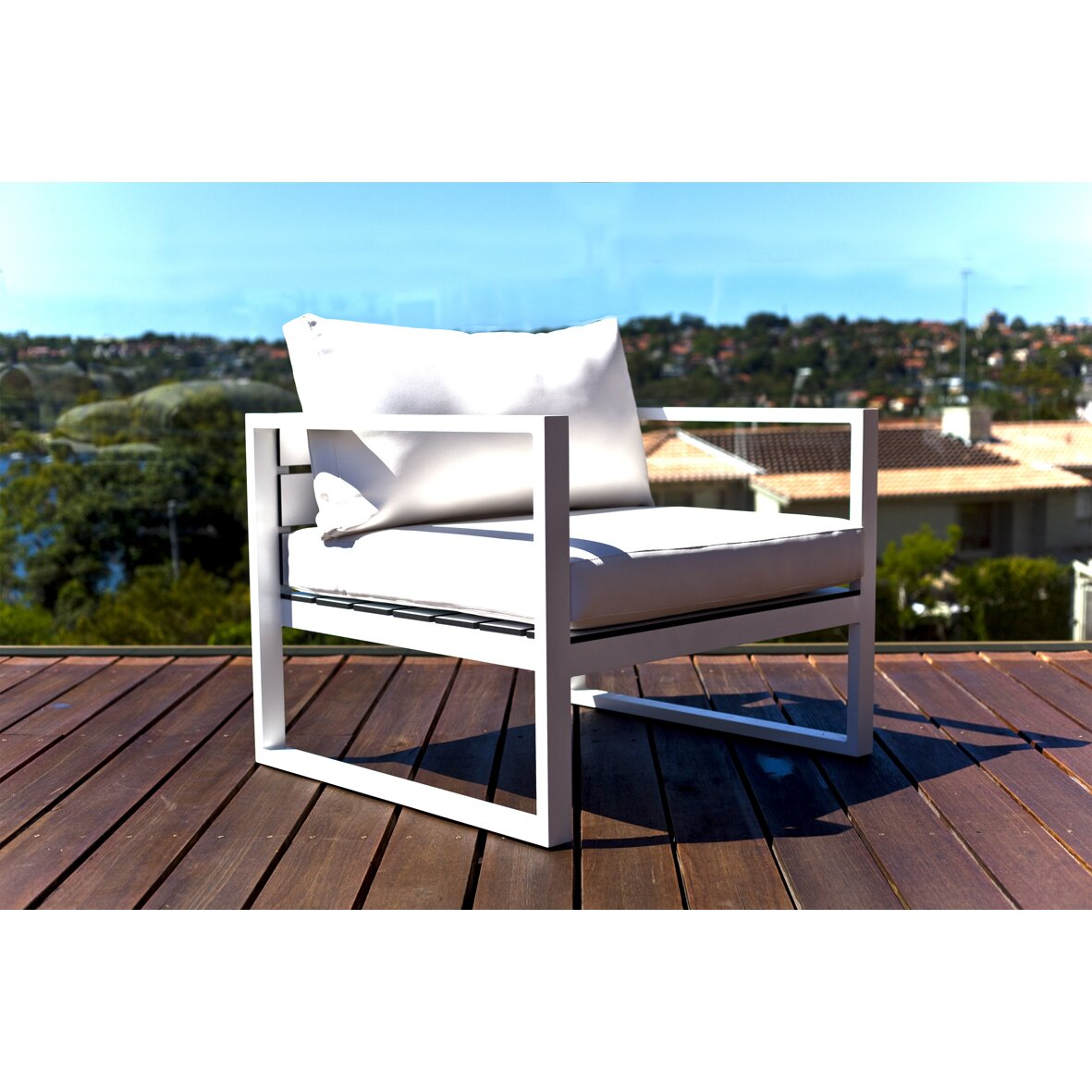 Harbour Outdoor Piano Deep Seating Chair with Mesh