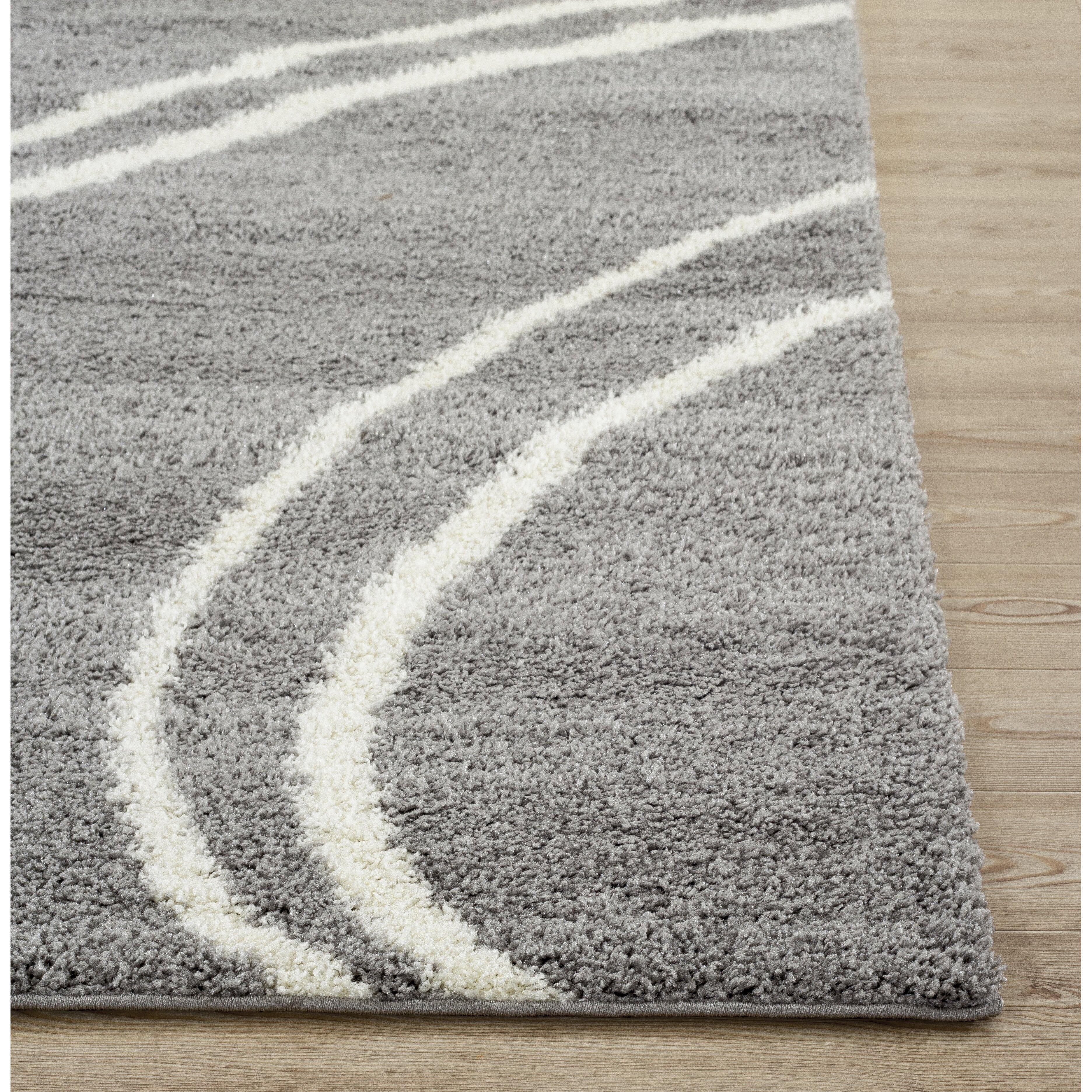 world rug gallery florida light gray white area rug reviews wayfair. Black Bedroom Furniture Sets. Home Design Ideas