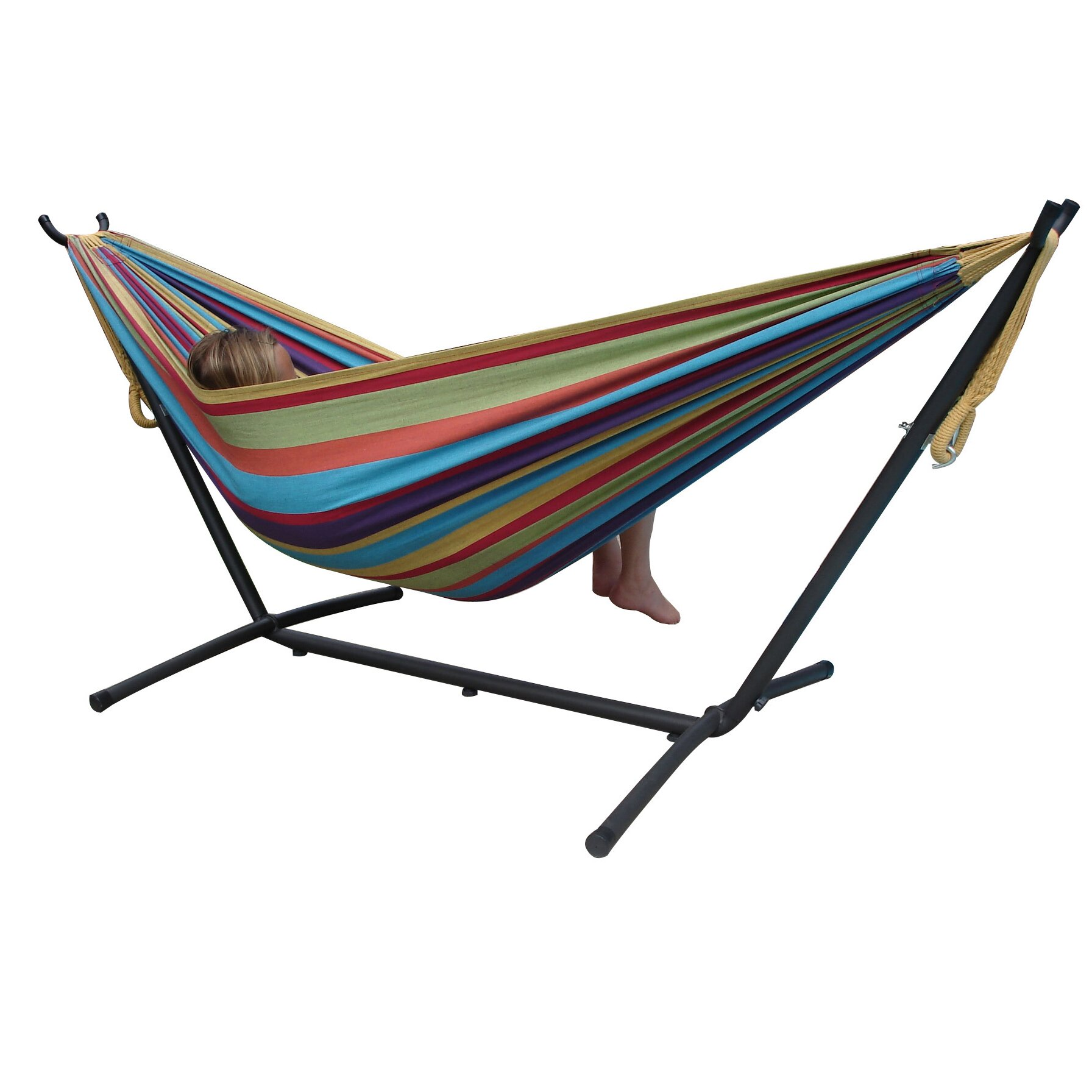 Vivere Hammocks Fabric Hammock with Stand & Reviews | Wayfair