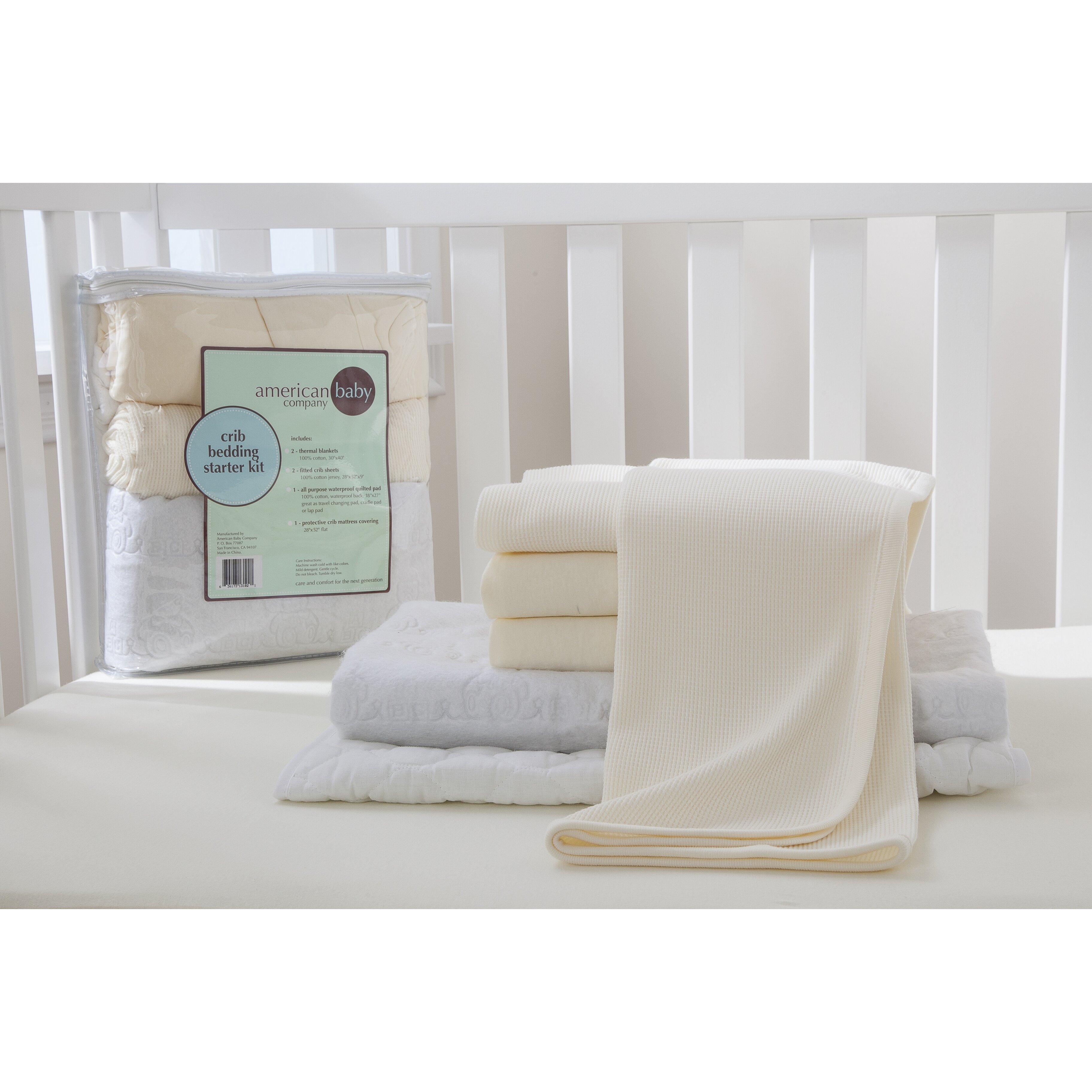 Starter 6 piece crib bedding set wayfair for Starter bed