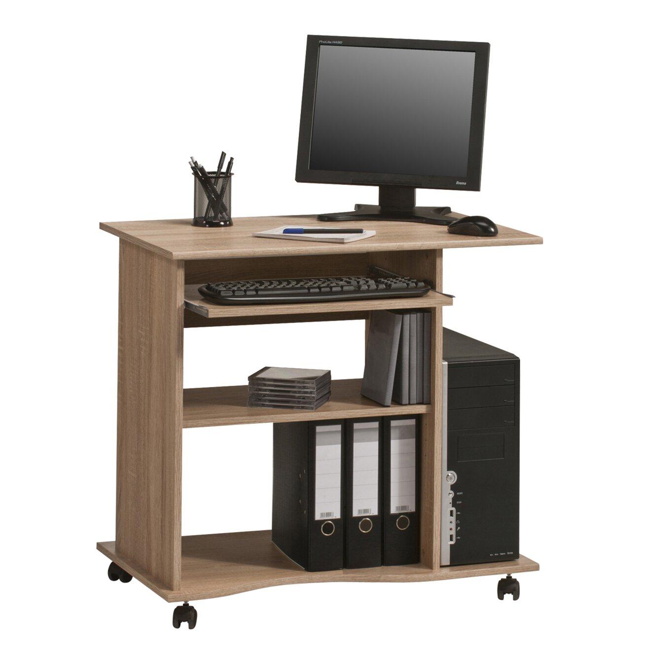 computertisch mit tastaturauszug von maja m bel. Black Bedroom Furniture Sets. Home Design Ideas