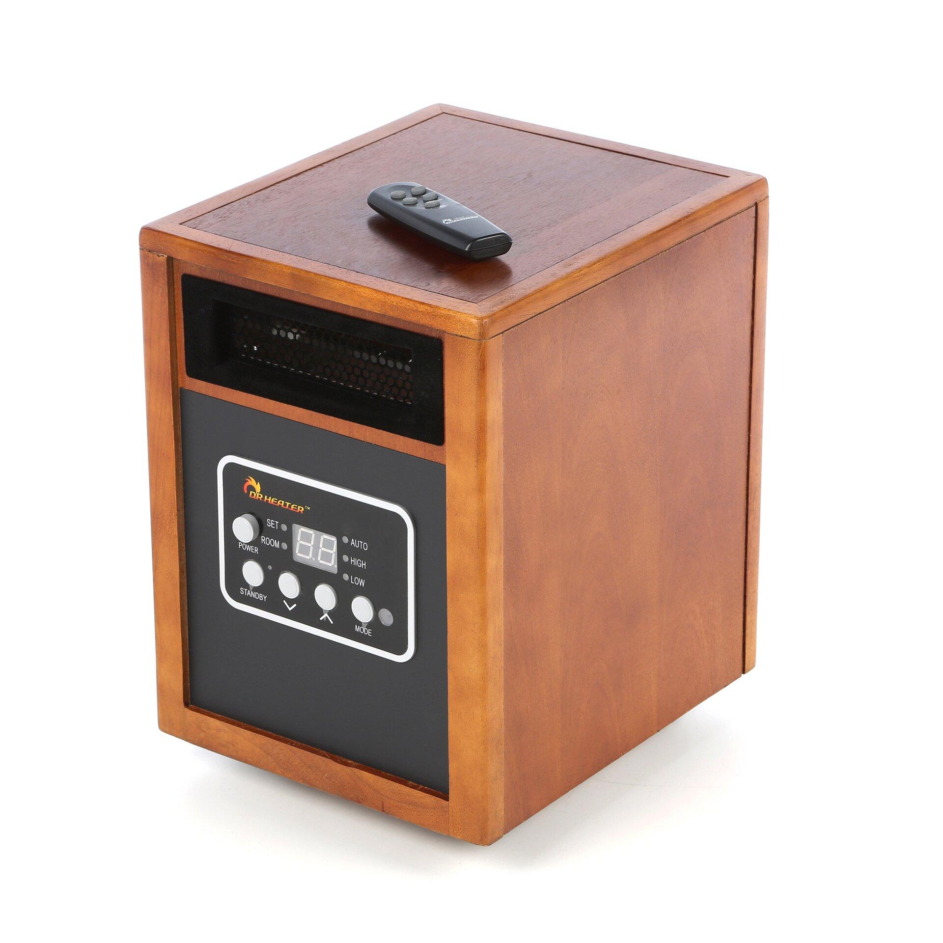 Infrared Heater 1,500 Watt Portable Electric Infrared Cabinet Heater