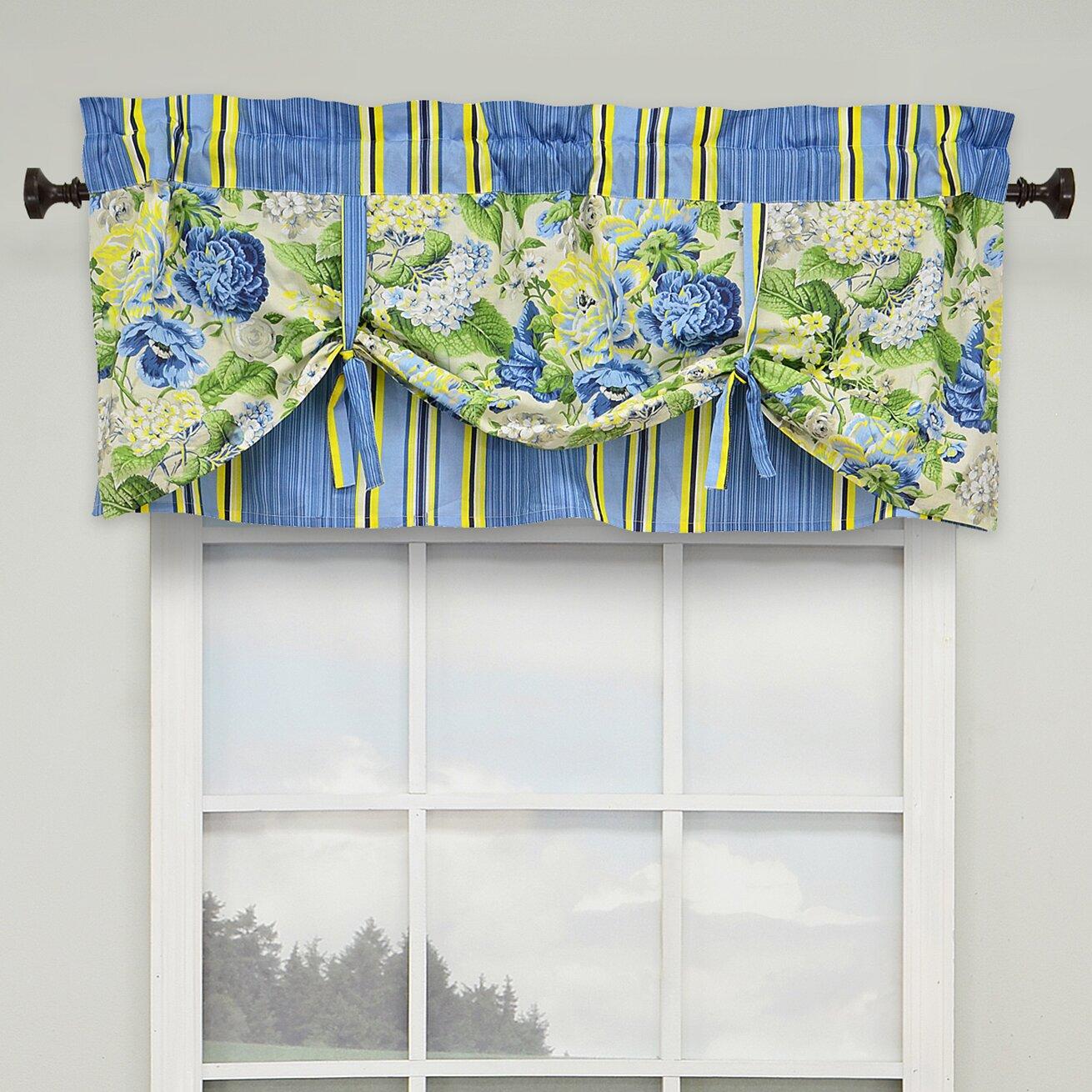 "Floral Flourish 52"" Lined Window Curtain Valance"