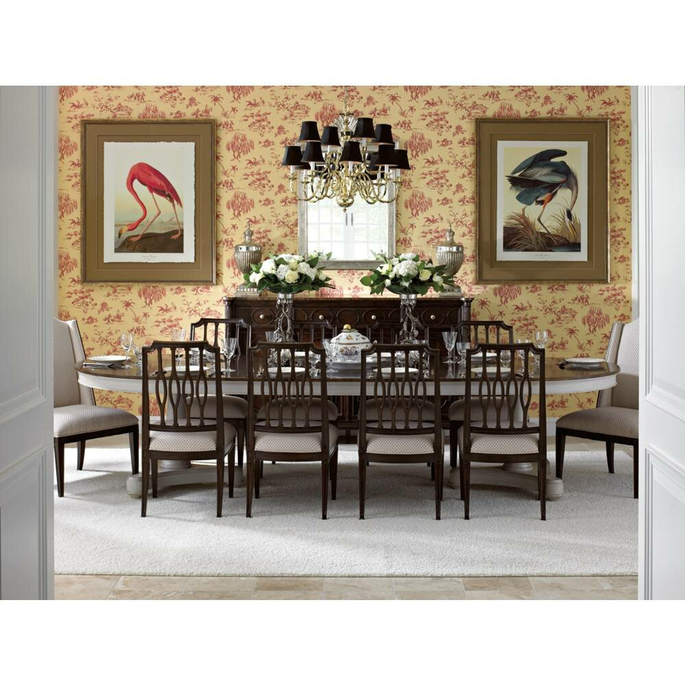 11 Piece Dining Room Set Stanley Furniture Charleston Regency Oyster Point Double Pedestal