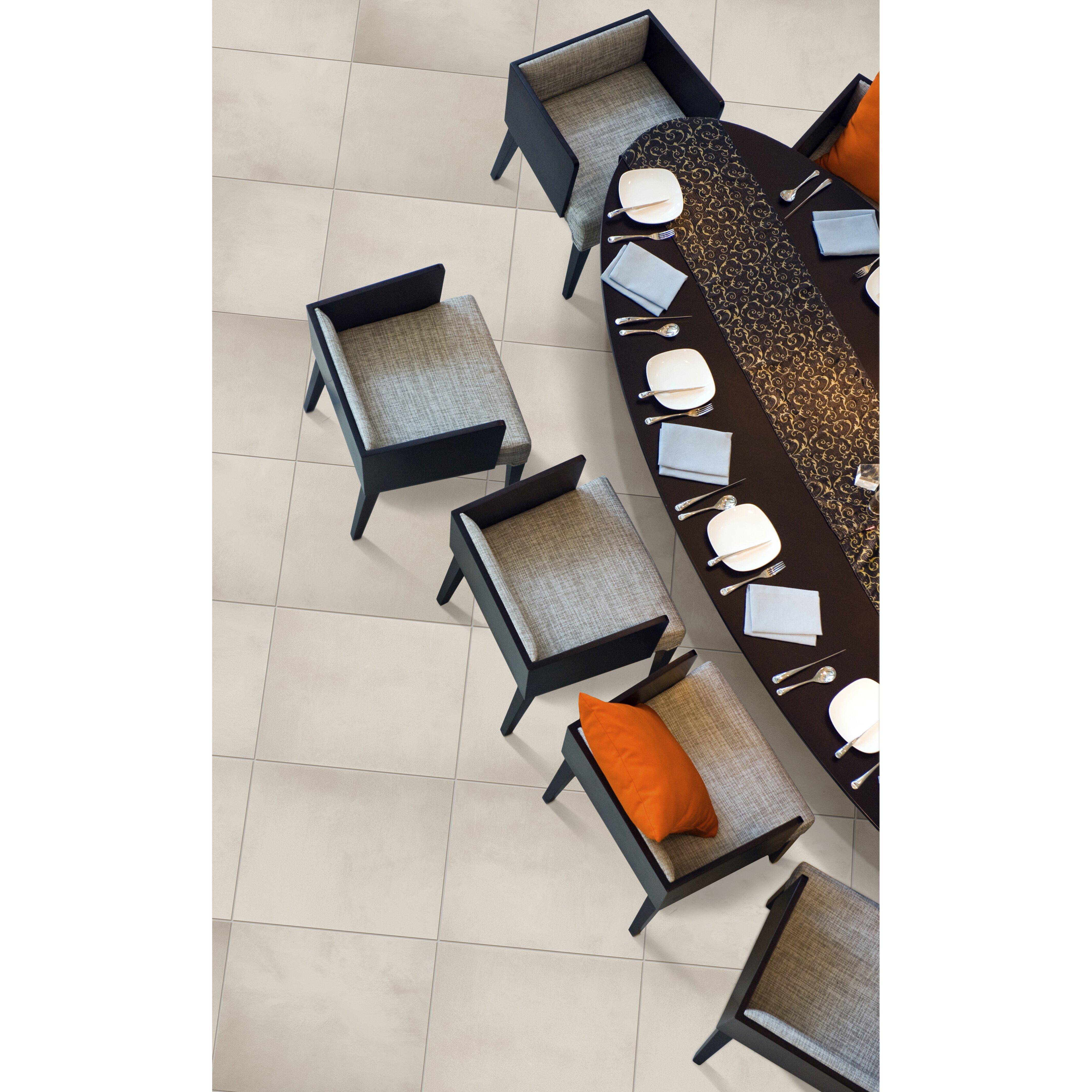 """Cosmopolitan 13"""" x 13"""" Porcelain Field Tile in Crystal by Emser Tile"""