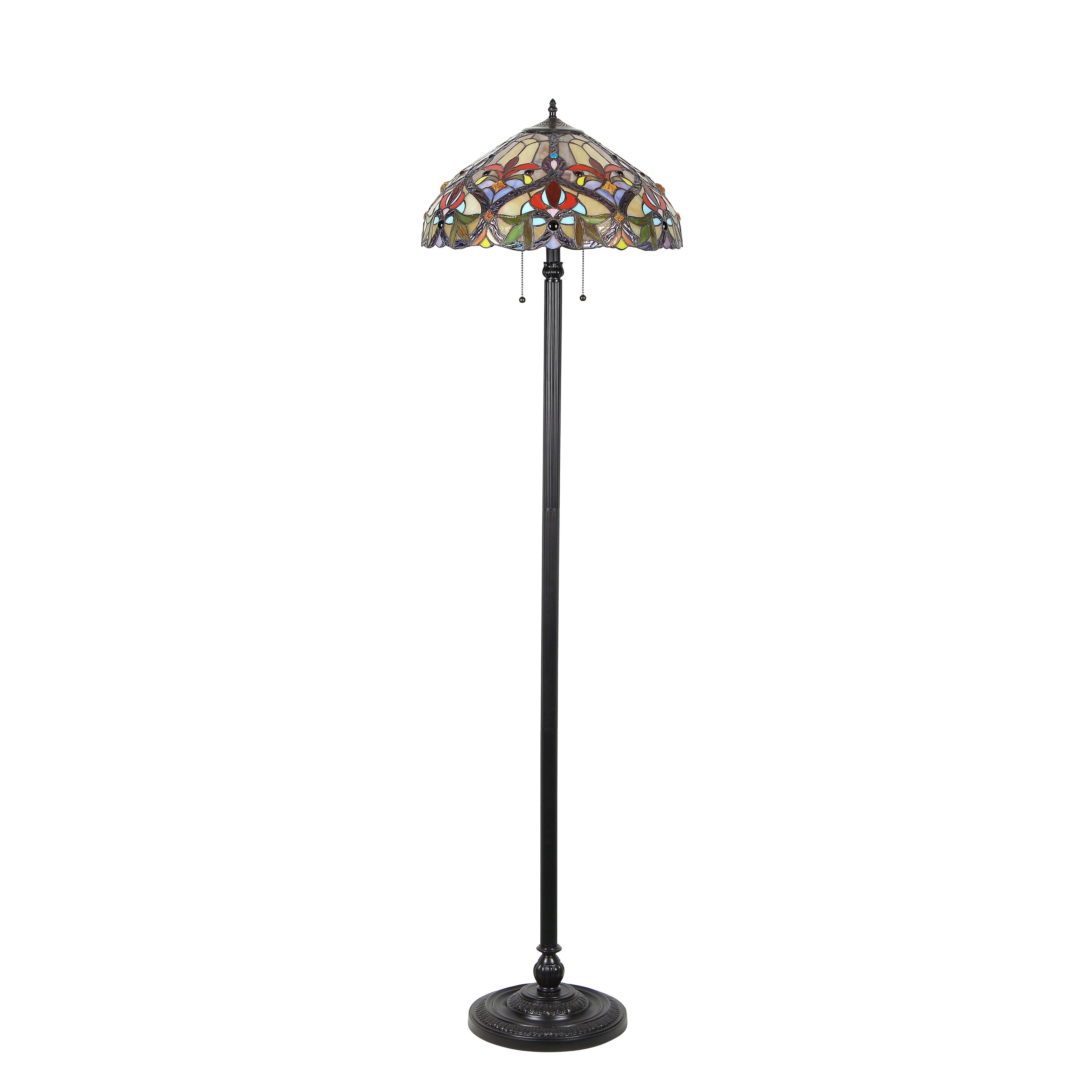 Victorian Byron 66 Quot Tiffany Floor Lamp Wayfair