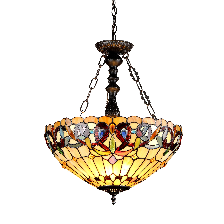 Victorian 3 Light Serenity Inverted Ceiling Pendant Wayfair