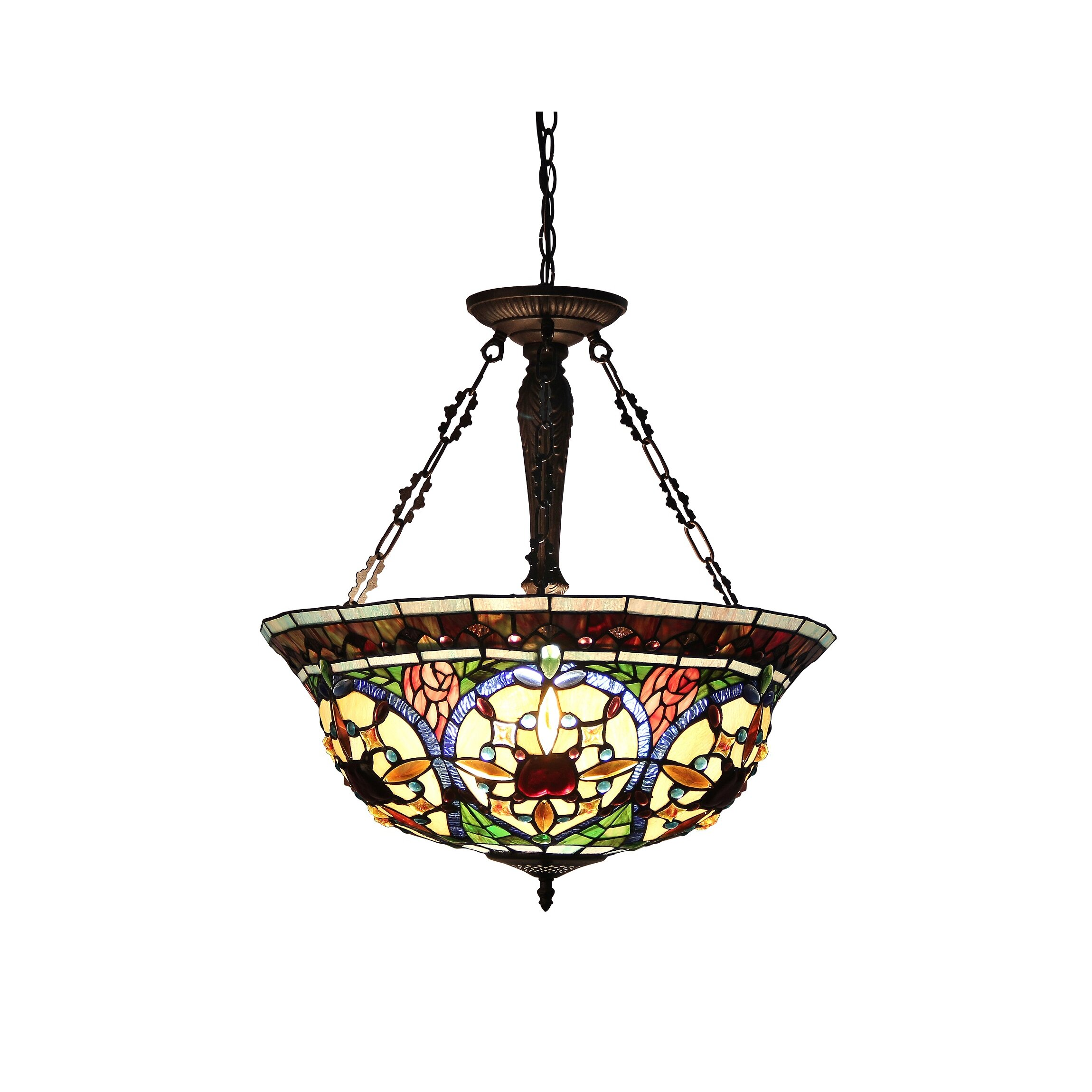 Victorian 3 Light Harlan Inverted Ceiling Pendant Wayfair