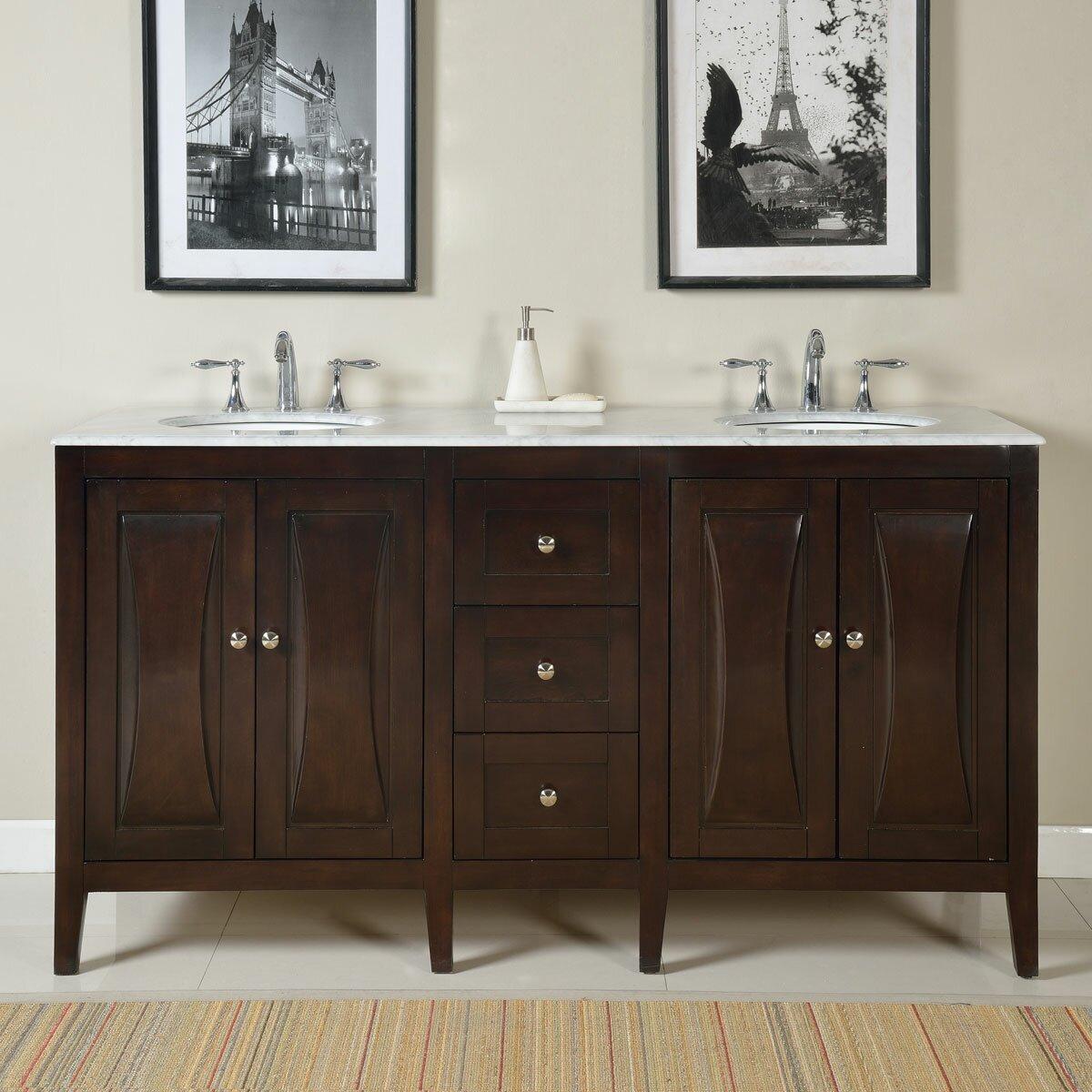 68 Double Sink Lavatory Cabinet Bathroom Vanity Set Wayfair