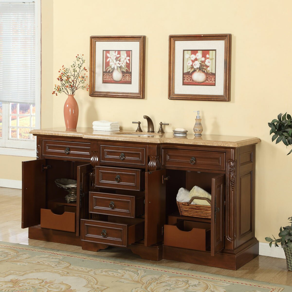 72 single sink bathroom vanity set by silkroad exclusive