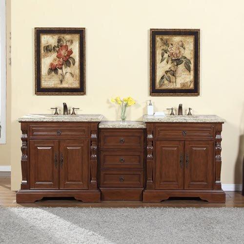 Silkroad Exclusive 90 Double Sink Bathroom Modular Vanity Set Reviews Wayfair