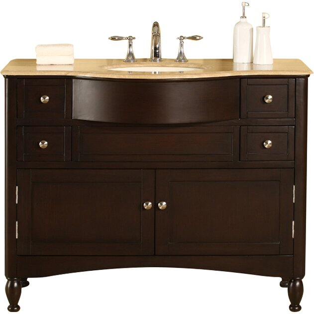 45 single sink bathroom vanity silkroad exclusive 45 quot single bathroom vanity set 21832