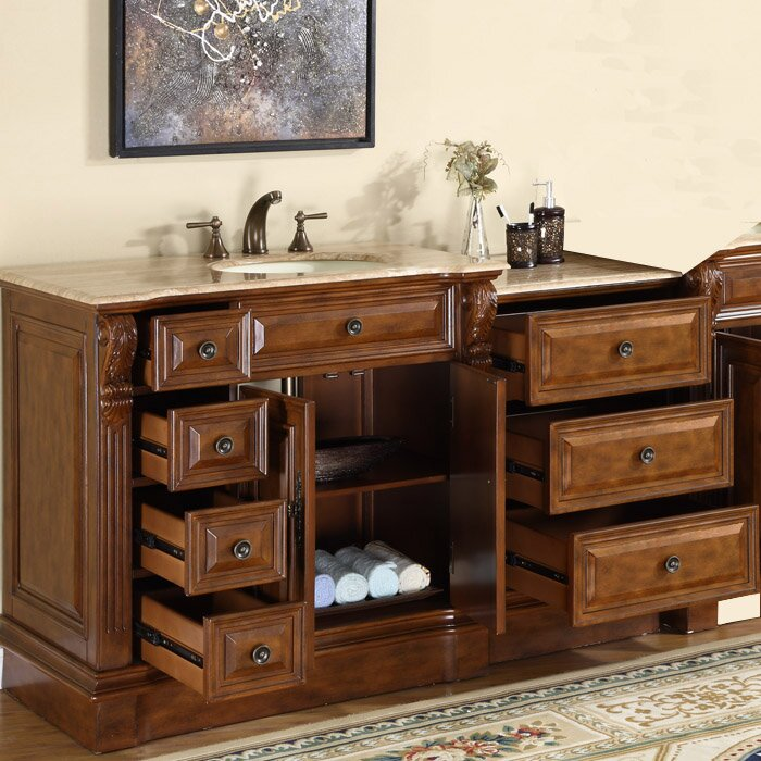 charlotte 58 single bathroom vanity set by silkroad exclusive
