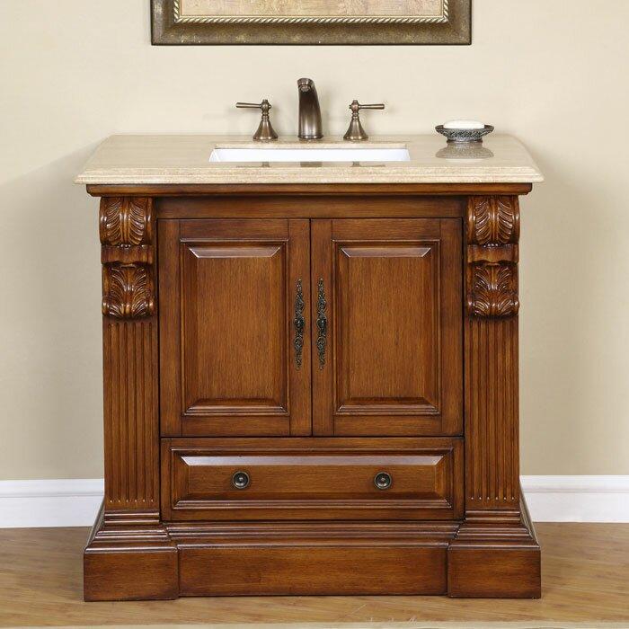 "Silkroad Exclusive Montgomery 39"" Single Bathroom Vanity"