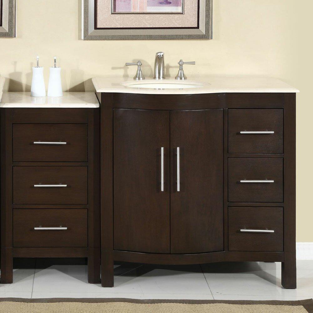 Silkroad Exclusive Kimberly 54 Quot Single Bathroom Vanity Set