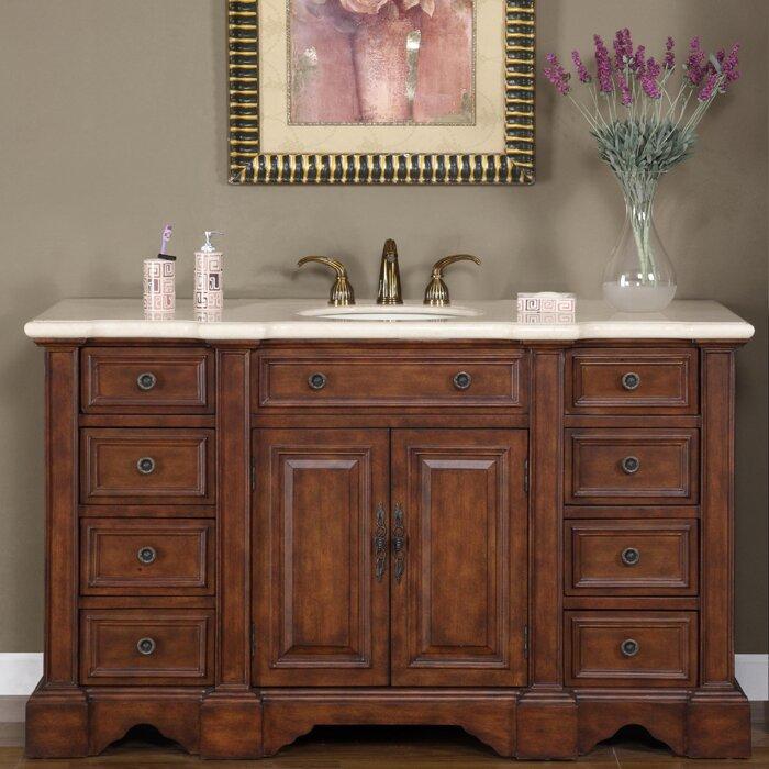 Silkroad Exclusive Sabina 58 Single Bathroom Vanity Set Reviews Wayfair