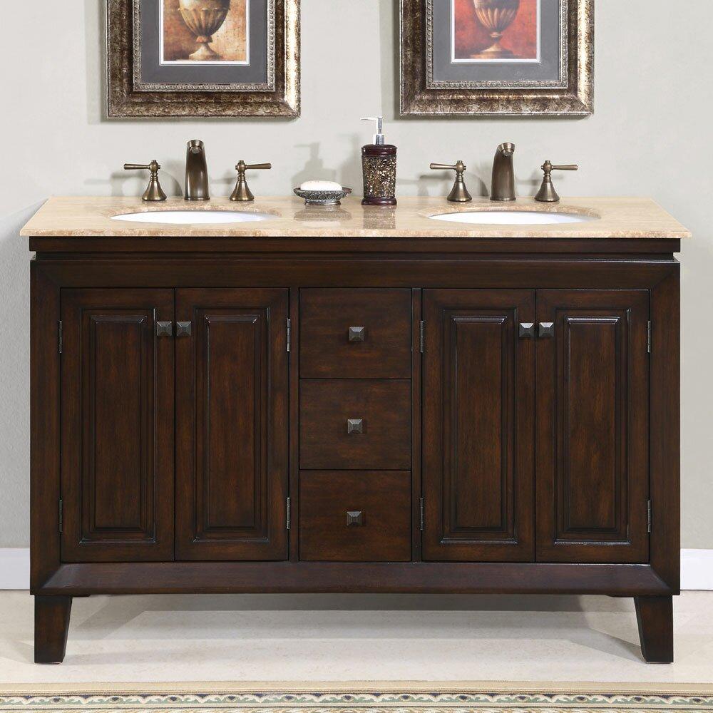 "Used Bathroom Vanity Sets For Sale: Jessica 55"" Double Bathroom Vanity Set"