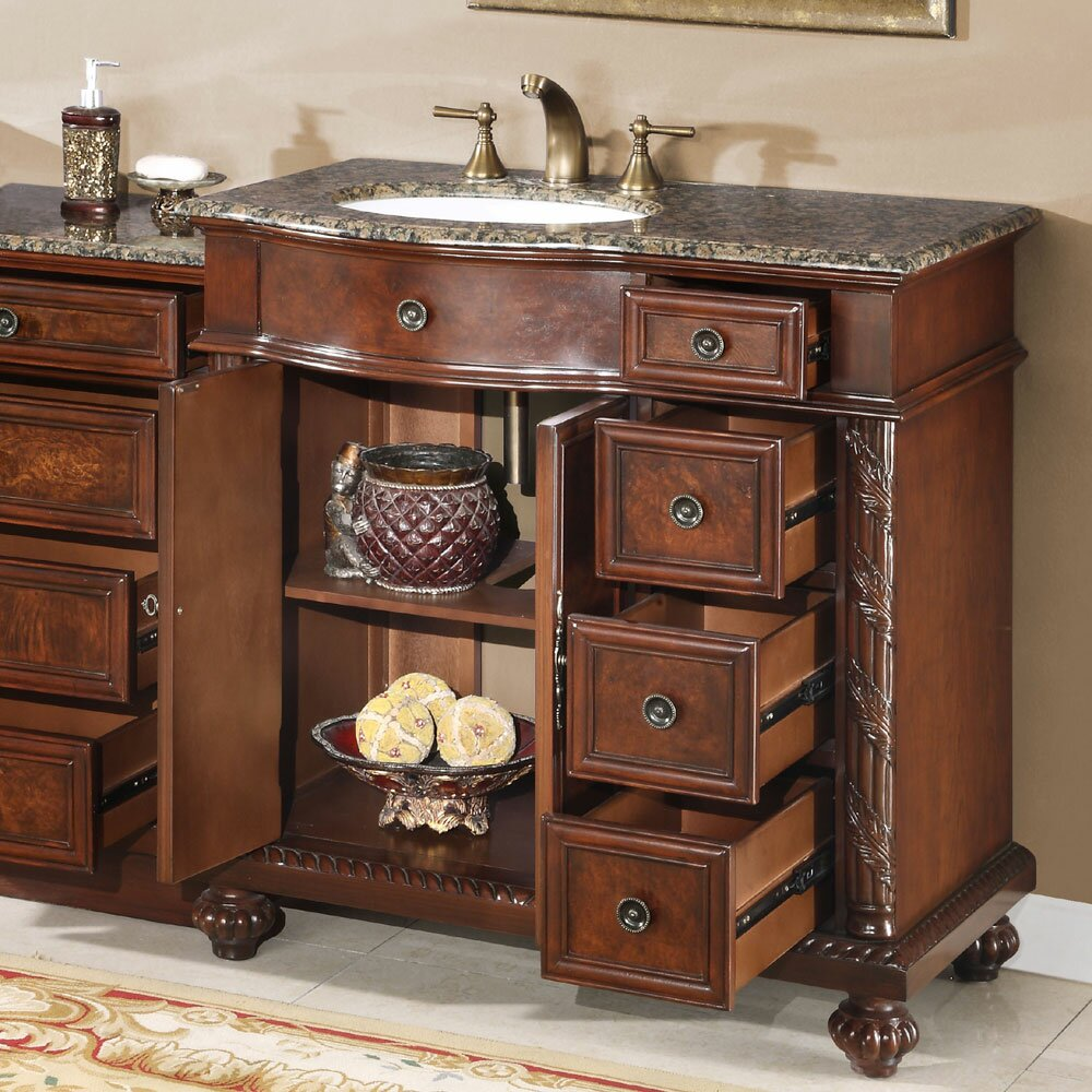 Silkroad Exclusive Victoria 56 Single Bathroom Vanity Set Reviews Wayfair