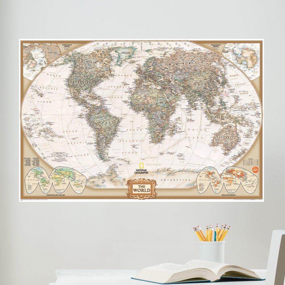 wall art kit national geographic world map wall mural world classic wall map mural national geographic store