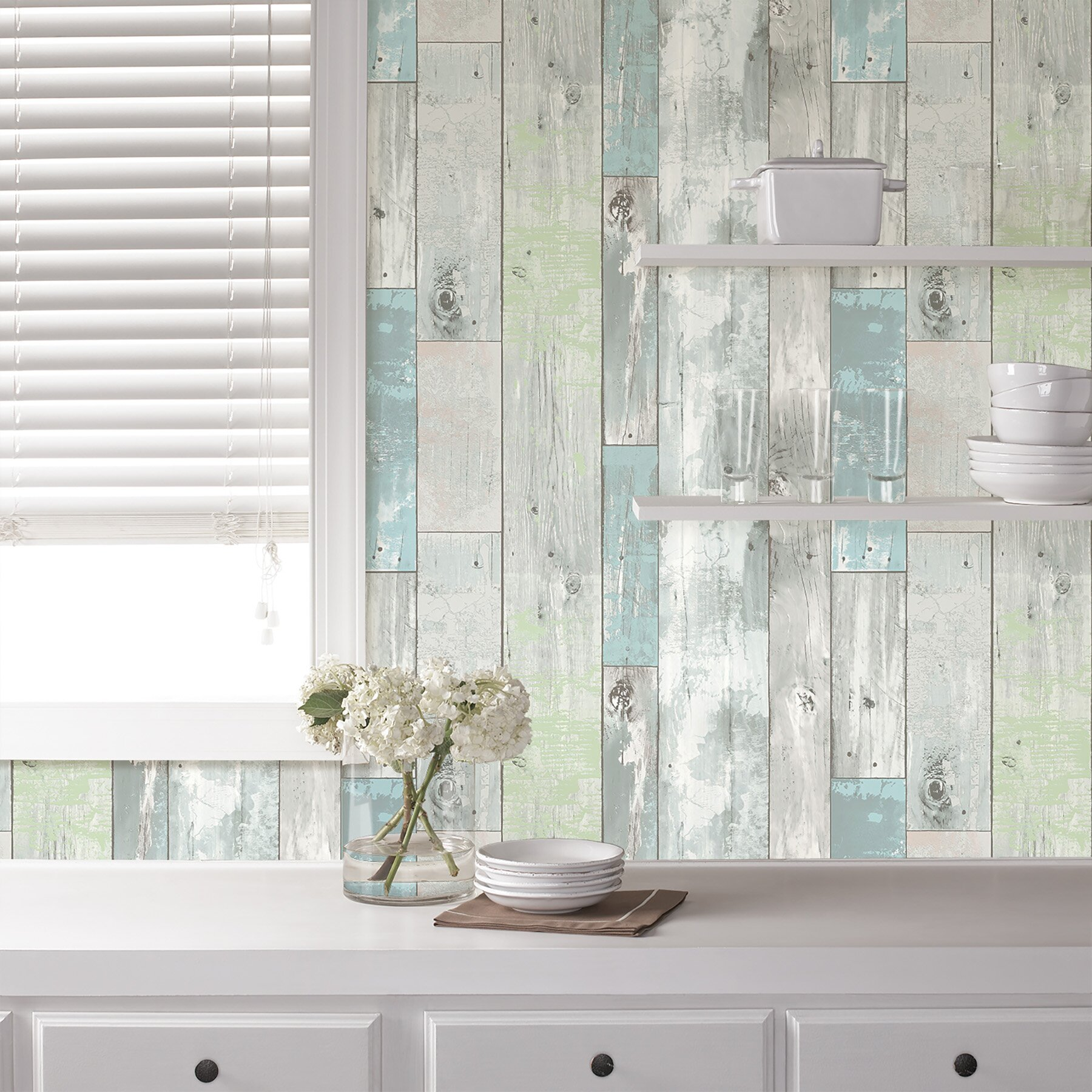 Peel And Stick Wallpaper In Bathroom: Beachwood Peel And Stick Wallpaper