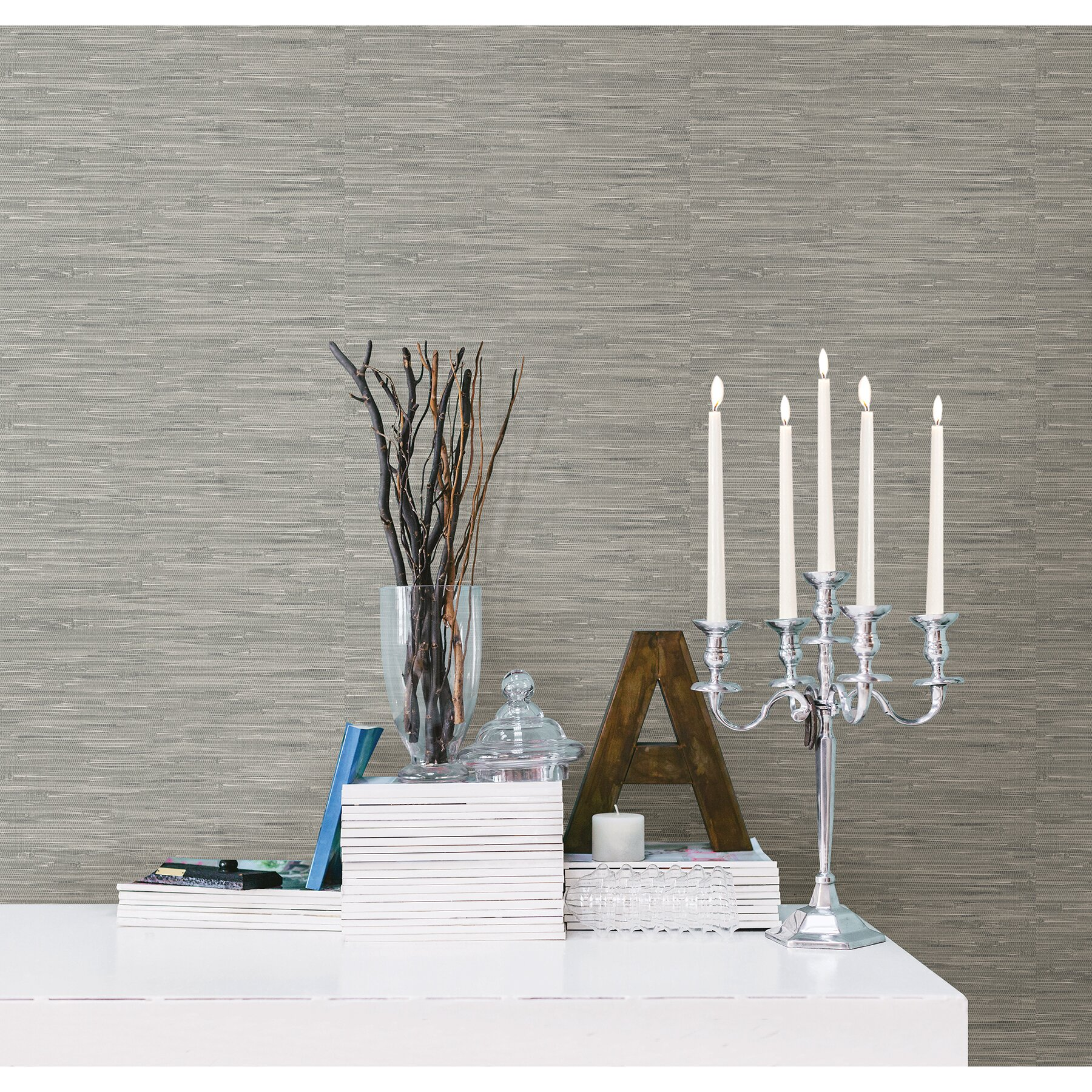 "Grasscloth Wallpaper Peel And Stick: 18' X 20.5"" Tibetan Grasscloth Peel And Stick Wallpaper"