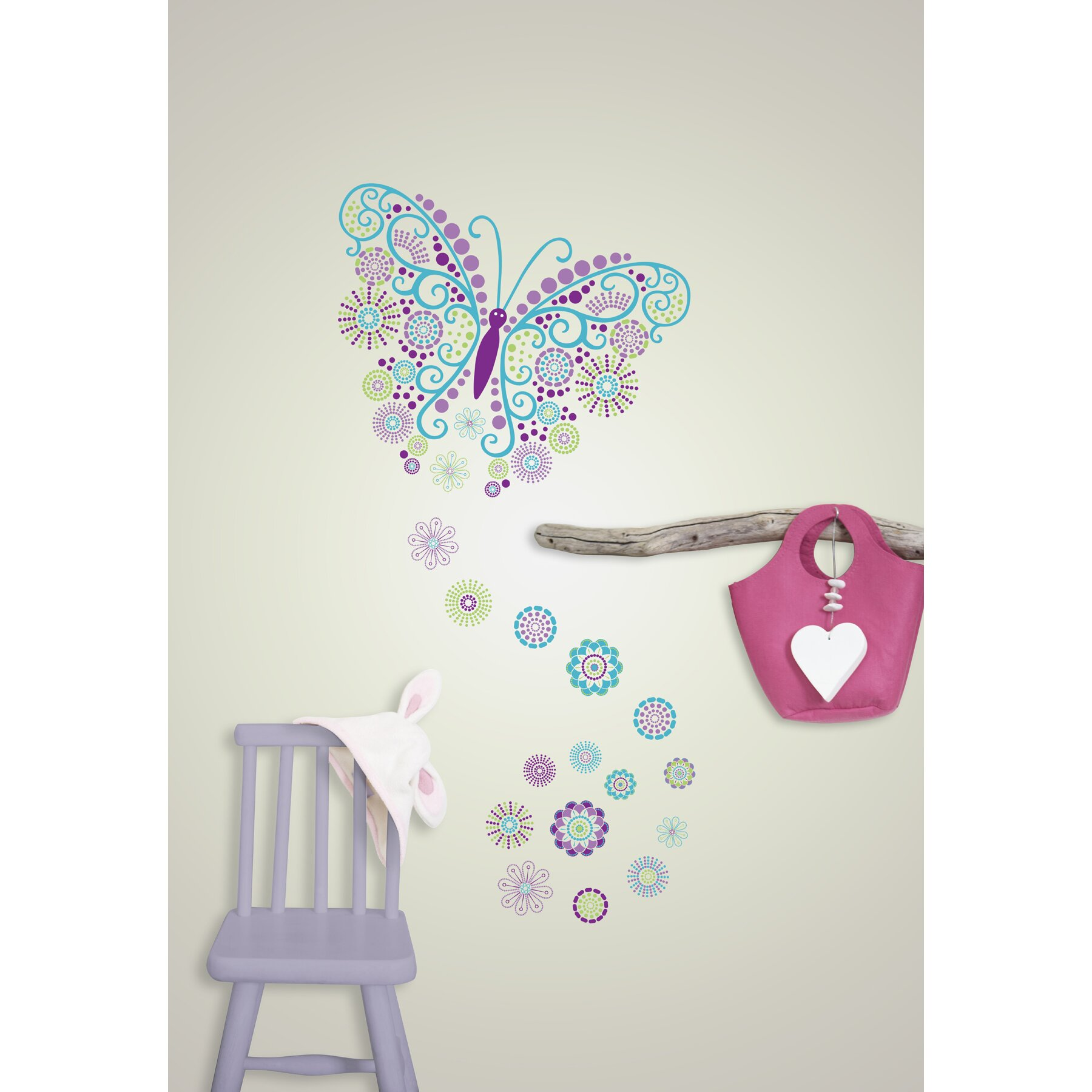 bathrooms for kids wallpops wall kit social butterfly wall decal allmodern 11988