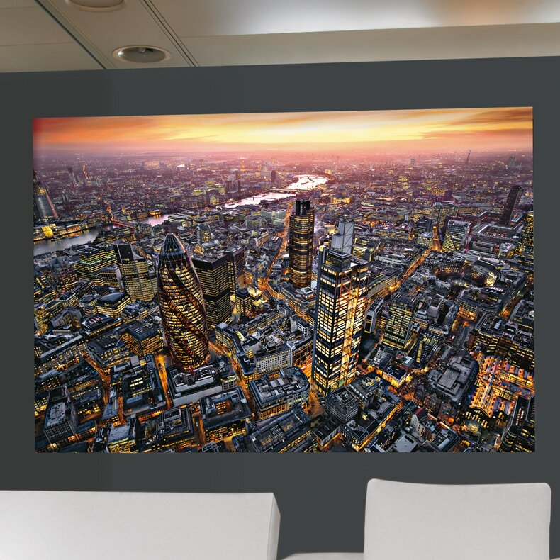 Ideal decor london aerial wall mural wayfair for Brewster wall mural