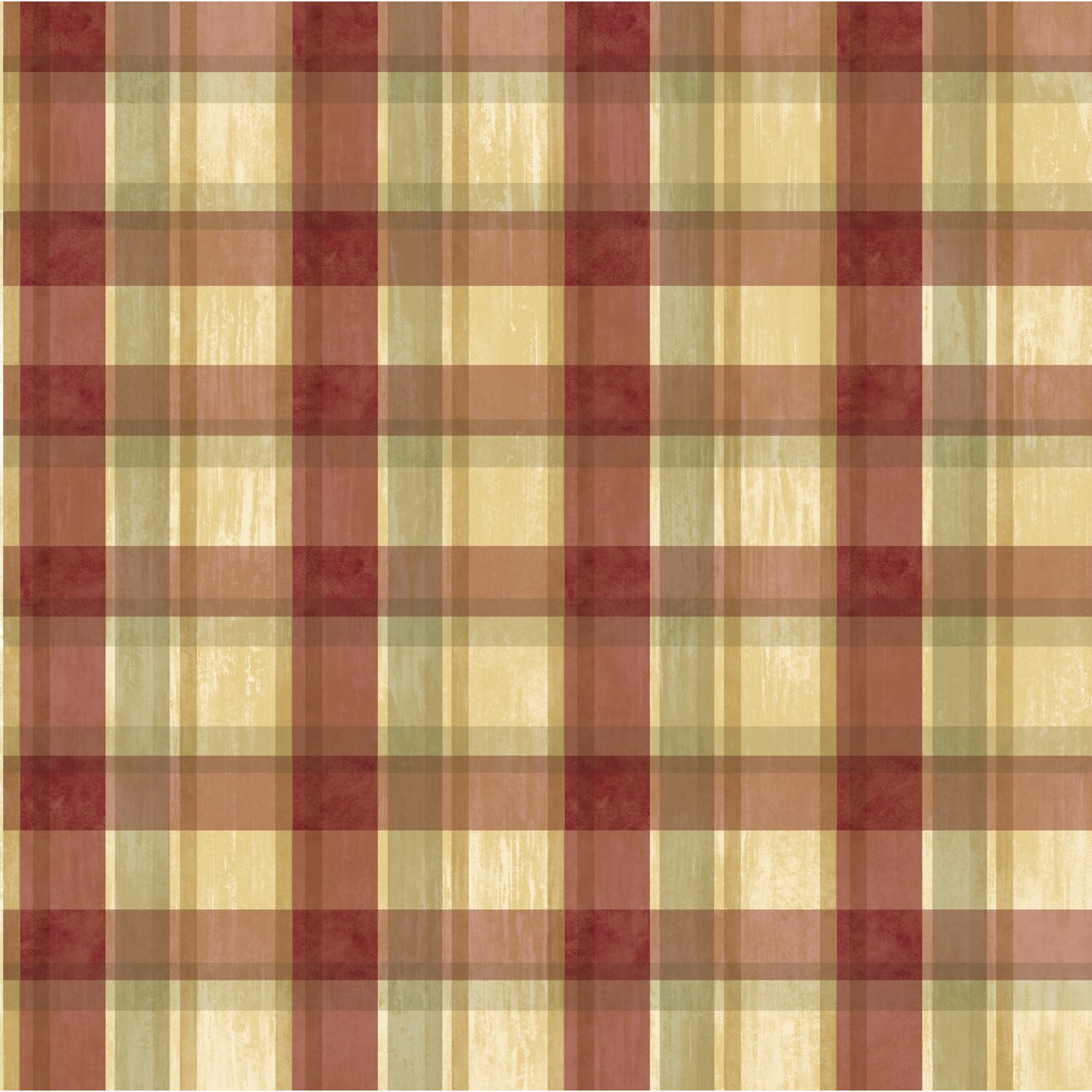 """Checkered Wallpaper: Pure Country Sunday Tartan 33' X 20.5"""" Plaid 3D Embossed"""