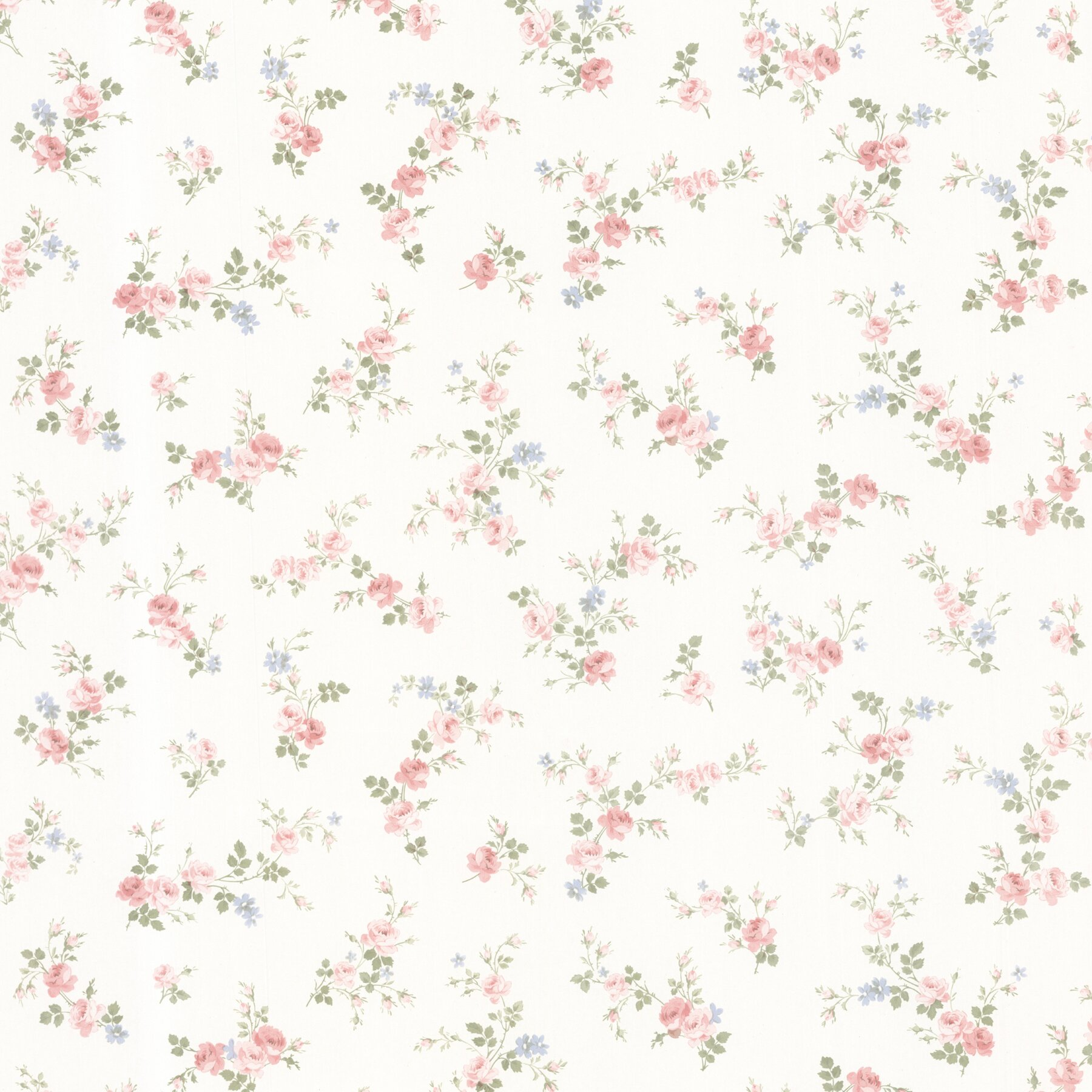 "Dollhouse Fiona Sprigs 33' X 20.5"" Floral And Botanical 3D"