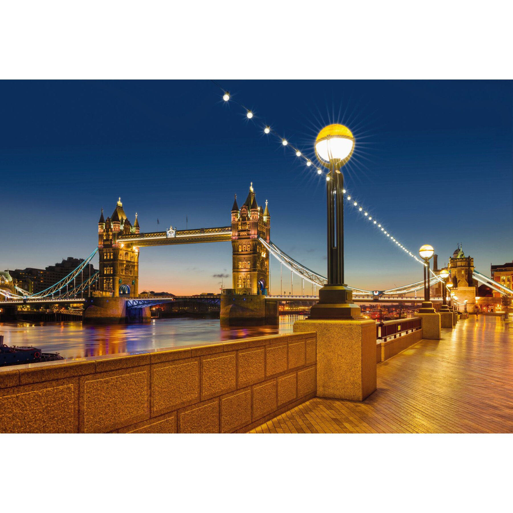 Komar tower bridge wall mural wayfair for Brewster home fashions komar wall mural