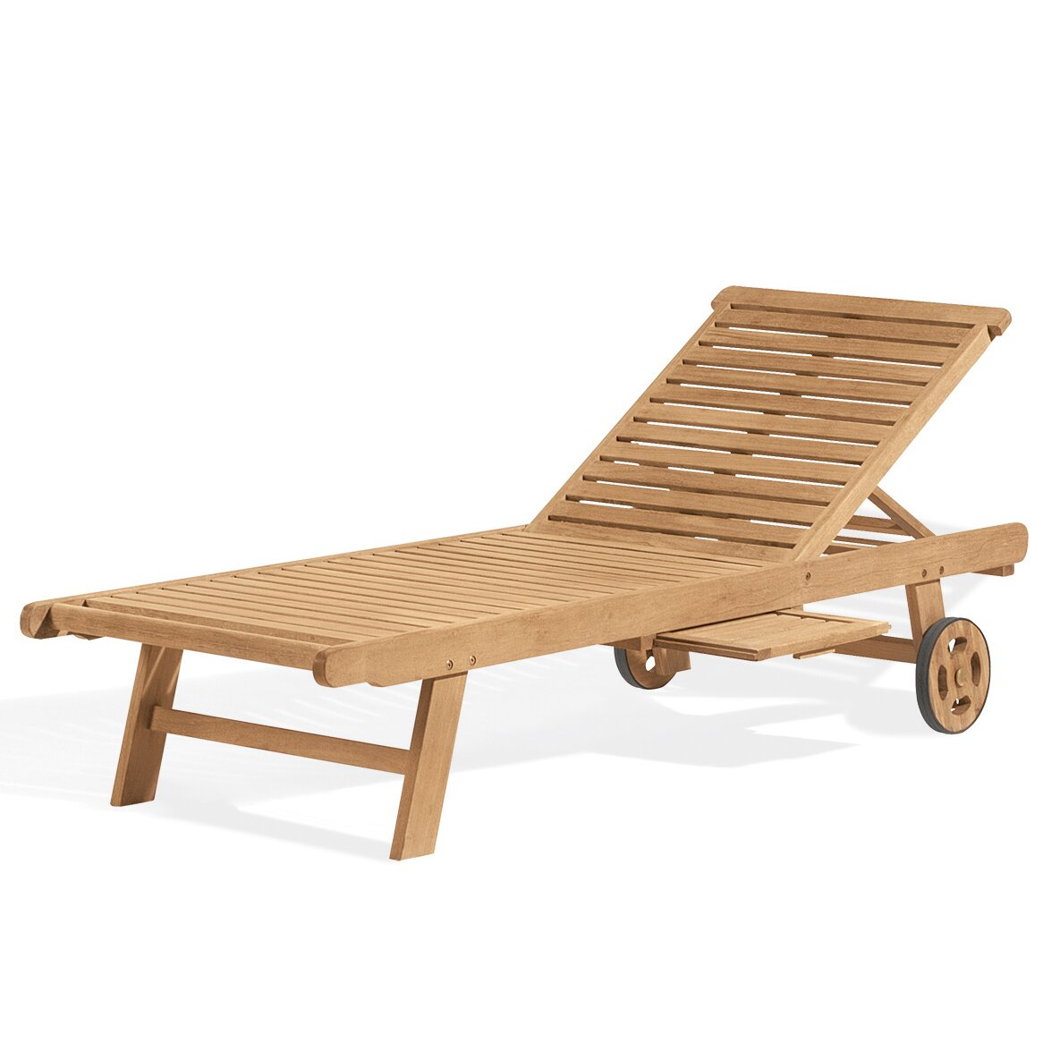Oxford Garden Chaise Lounge with Cushion & Reviews