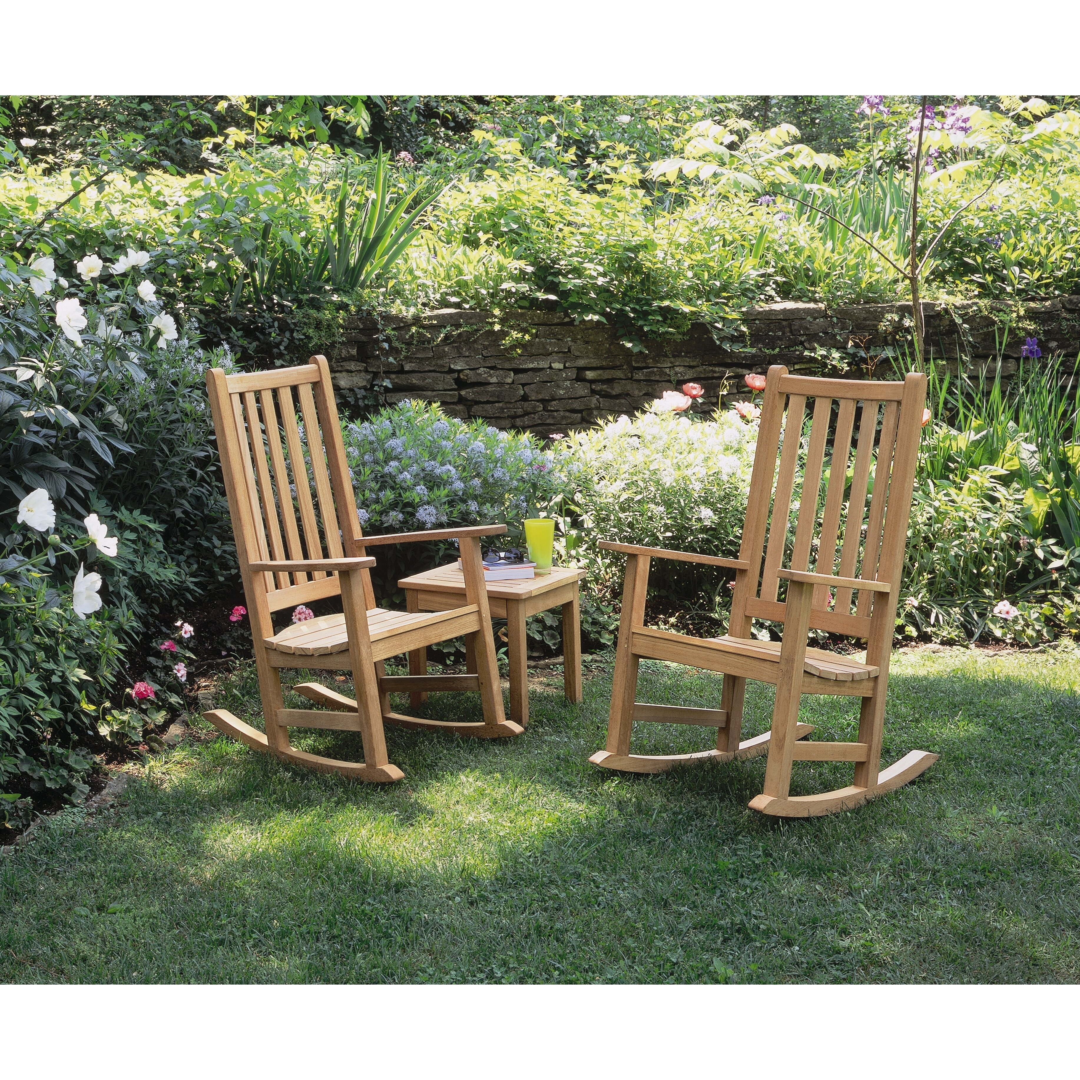 Outdoor Patio Furniture ... Wood Patio Rocking Chairs Oxford Garden ...
